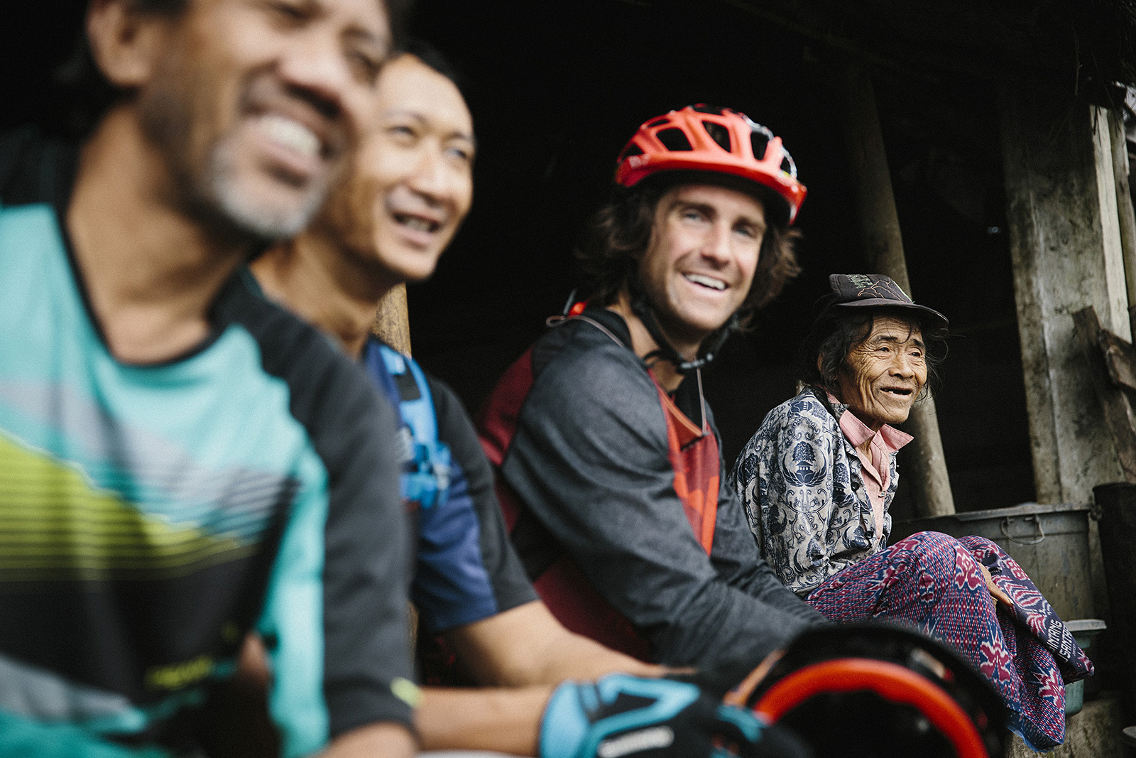 Cam McCaul with Chandra Ariavijaya and Rahmat Saefudin in Bali Indonesia