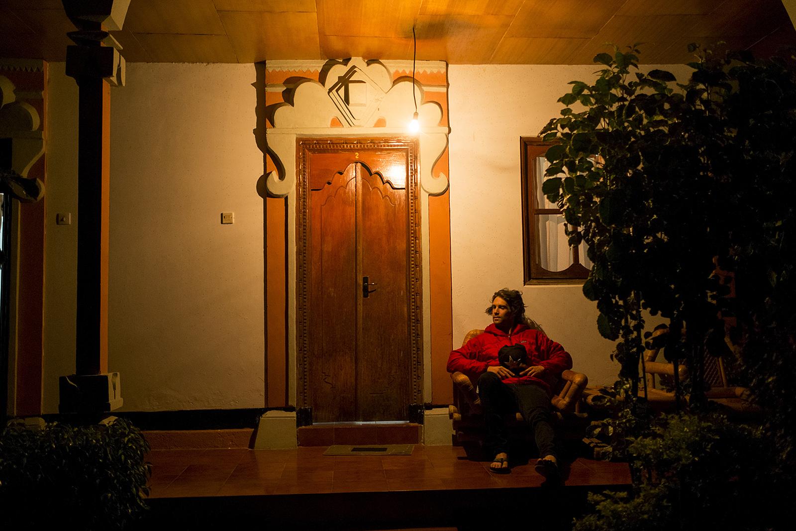 Cam McCaul at dawn in Bali Indonesia