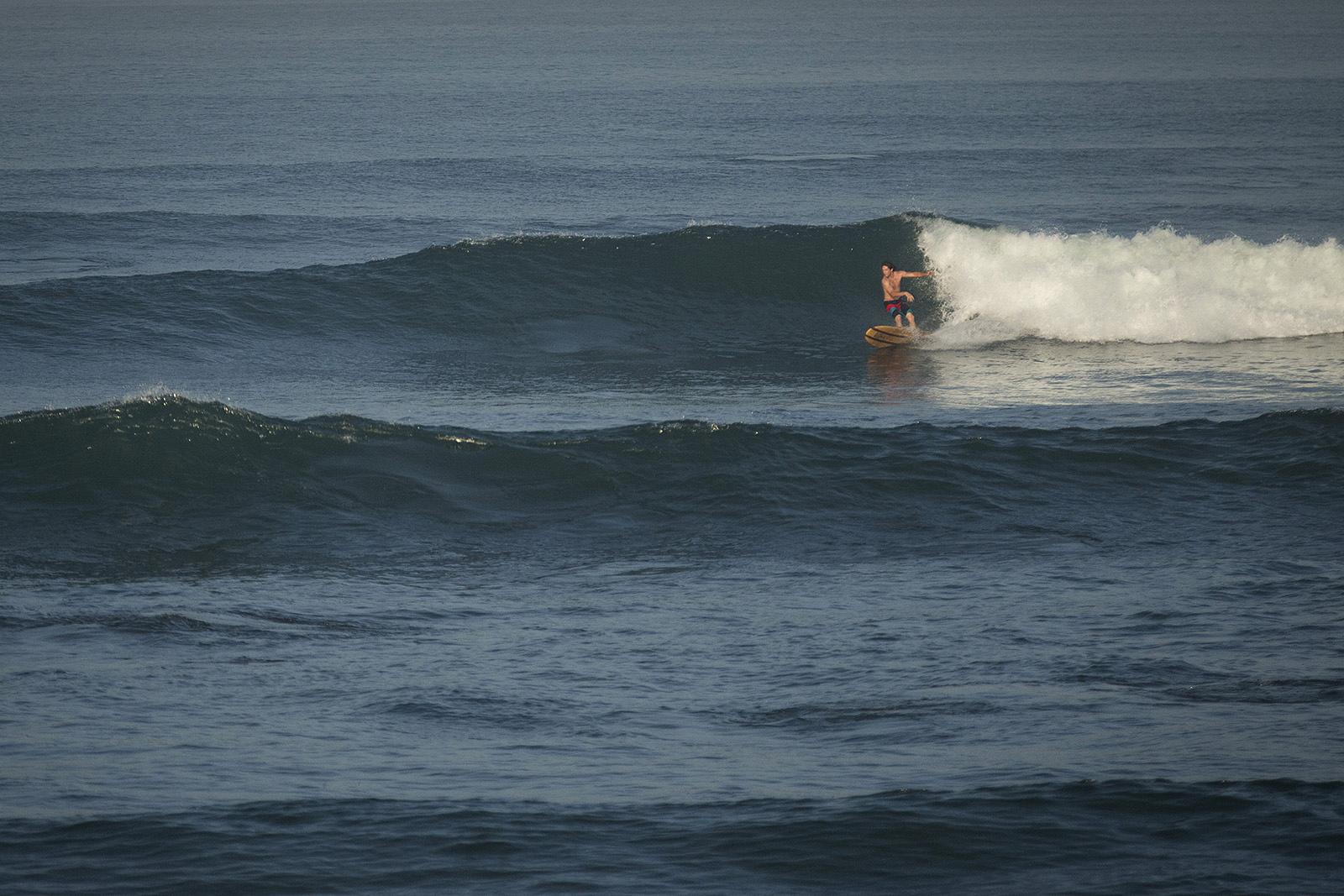 Cam McCaul surfing Bali.