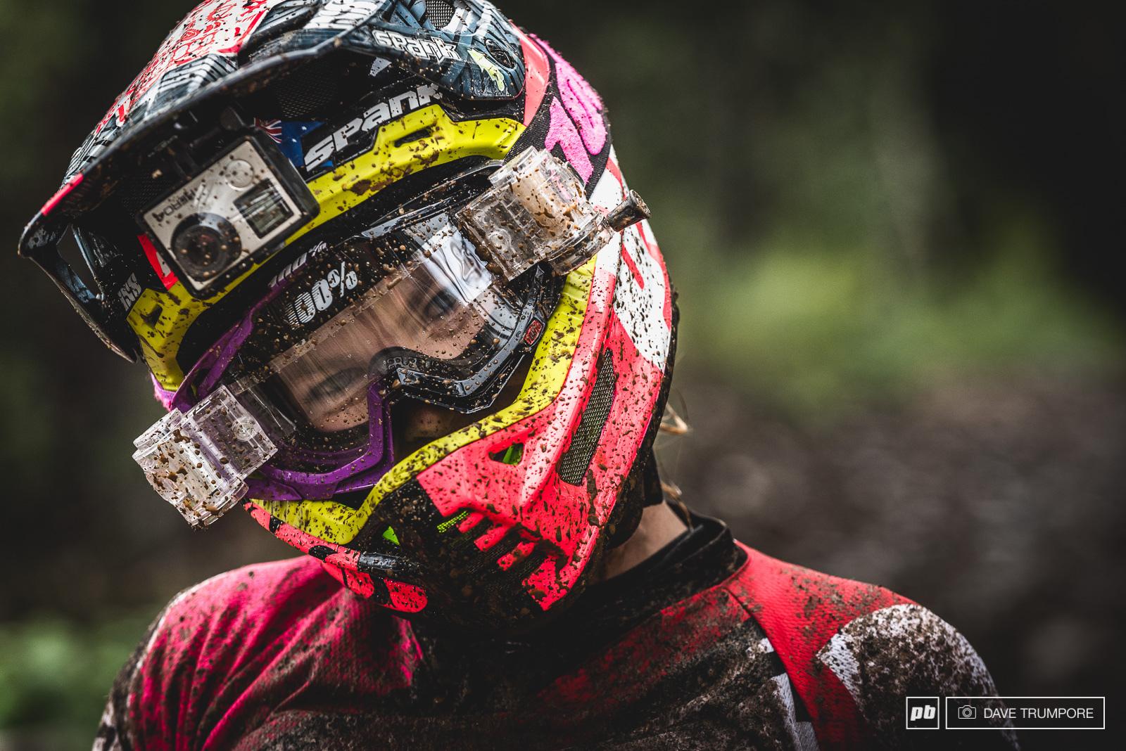 Tracey Hannah enjoying the mud.