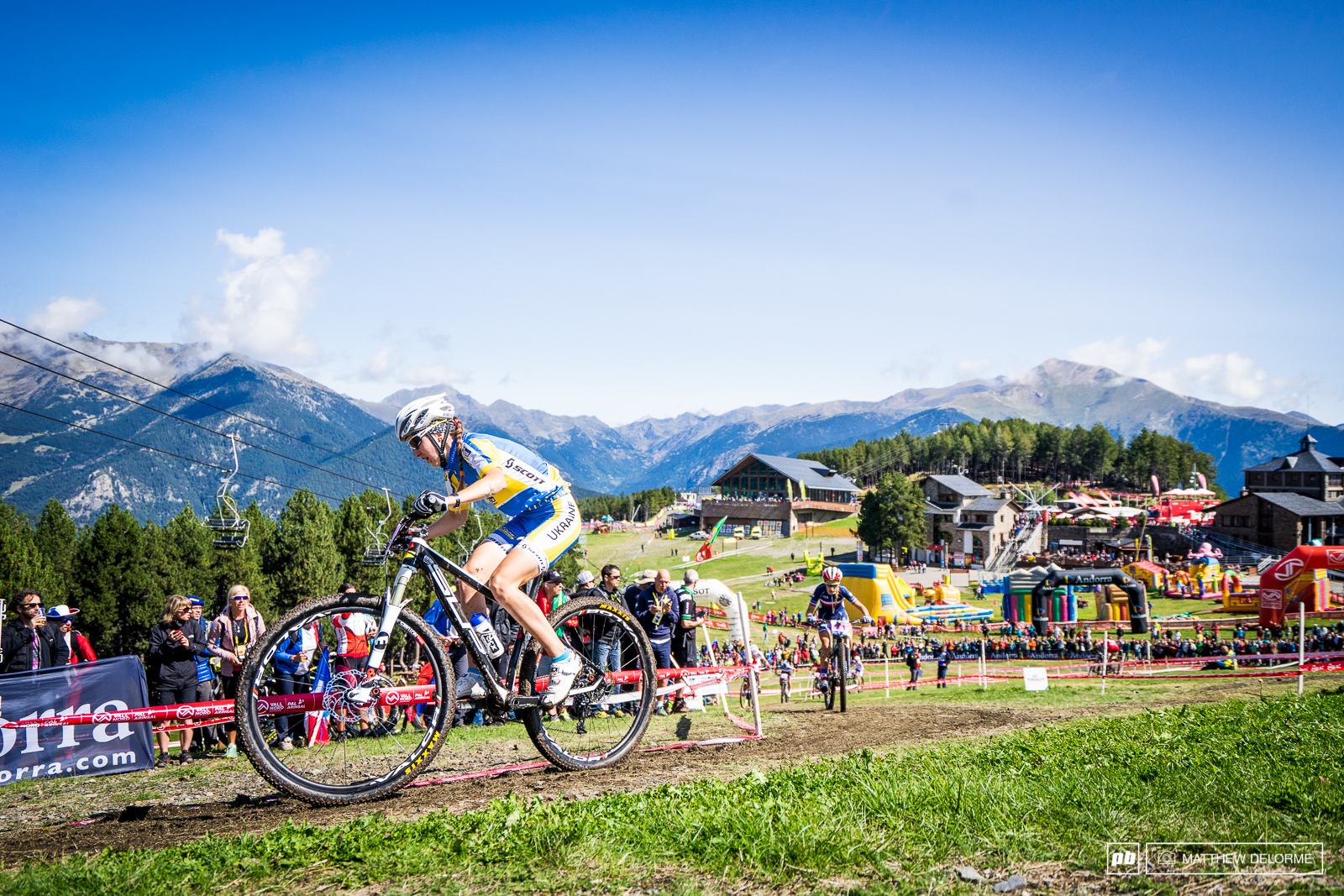 Yana Belomoina may have had the ride of the race. The Ukrainian finished third.