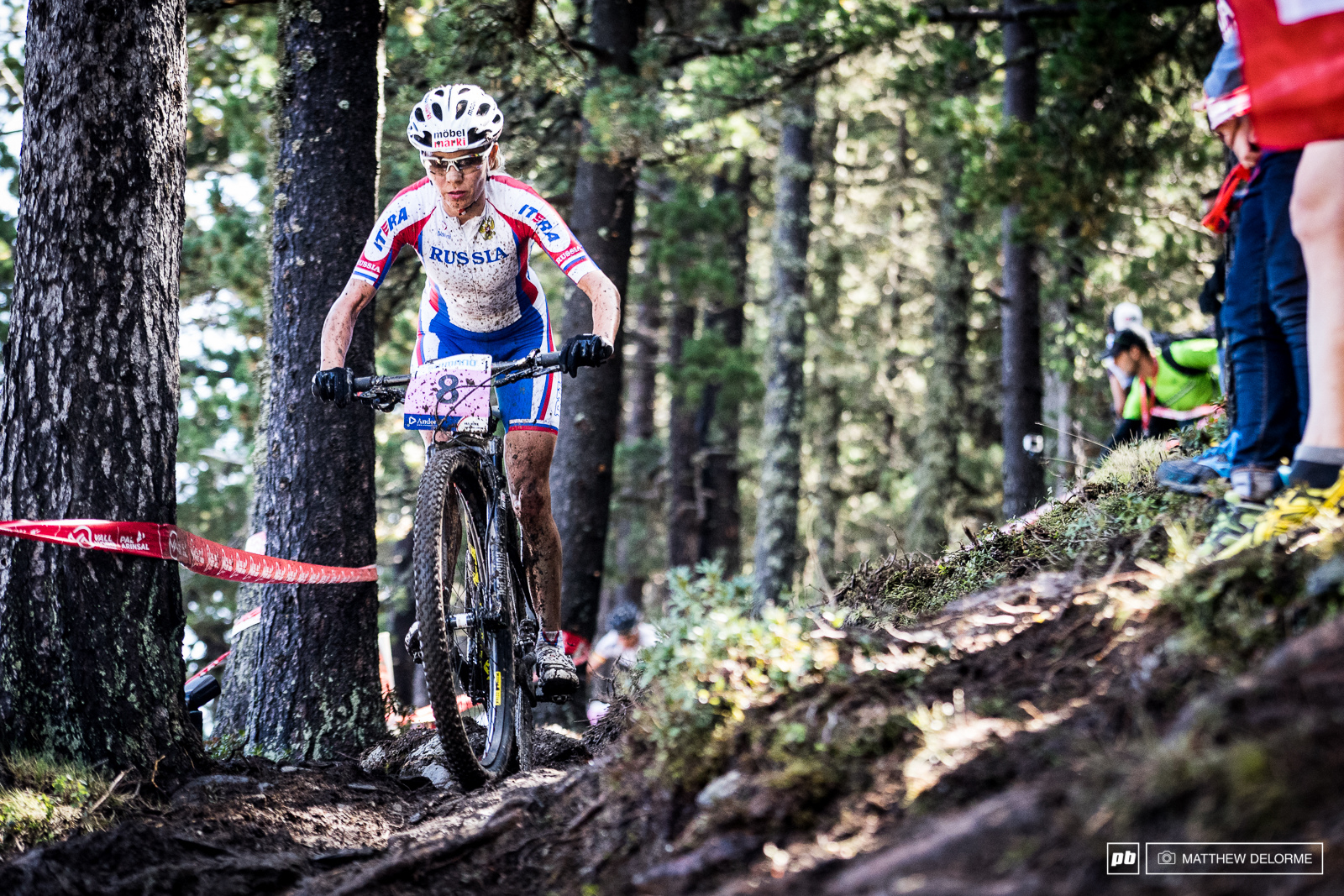 Irina Kalentyeva steered clear of traffic for the majority of the race and rode strong to finish second.
