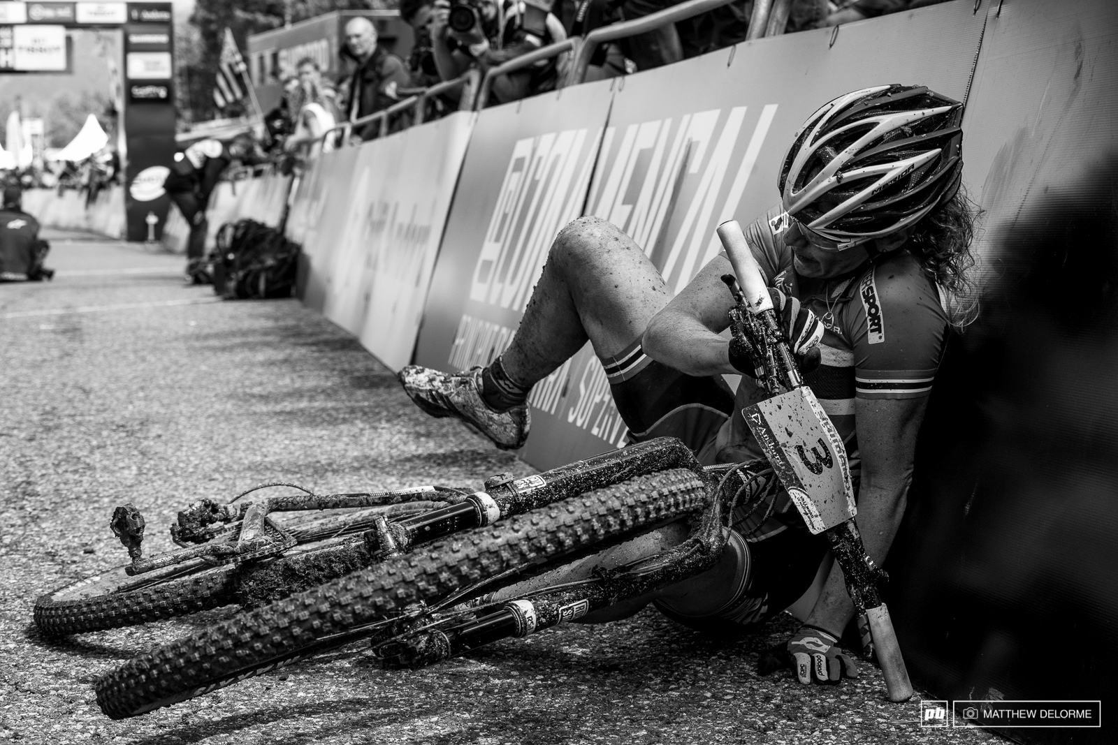 Gunn Rita finished fourth and collapsed after she crossed the line.