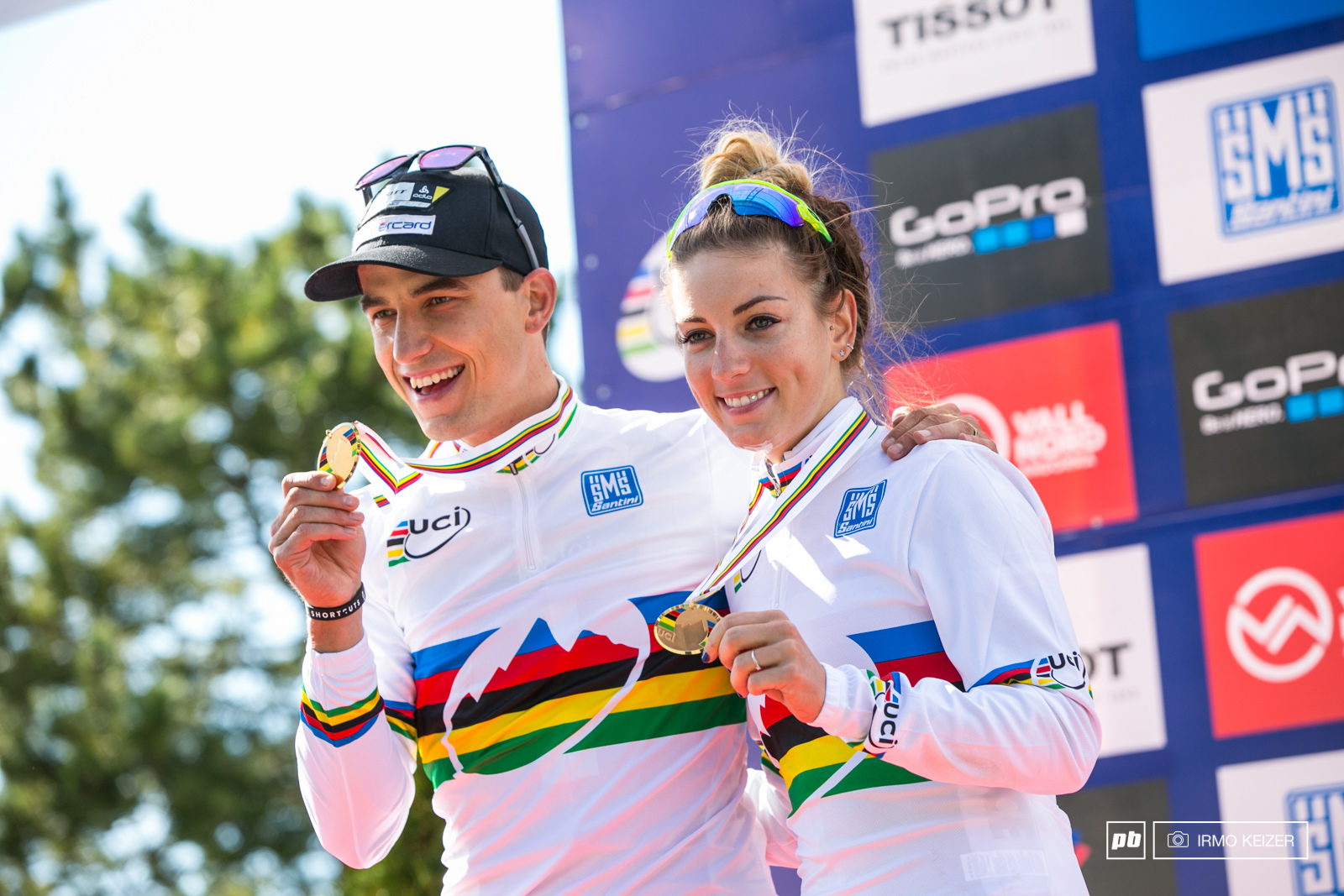 Your World Champions. Nino Schurter and Pauline Ferrand-Prevot.
