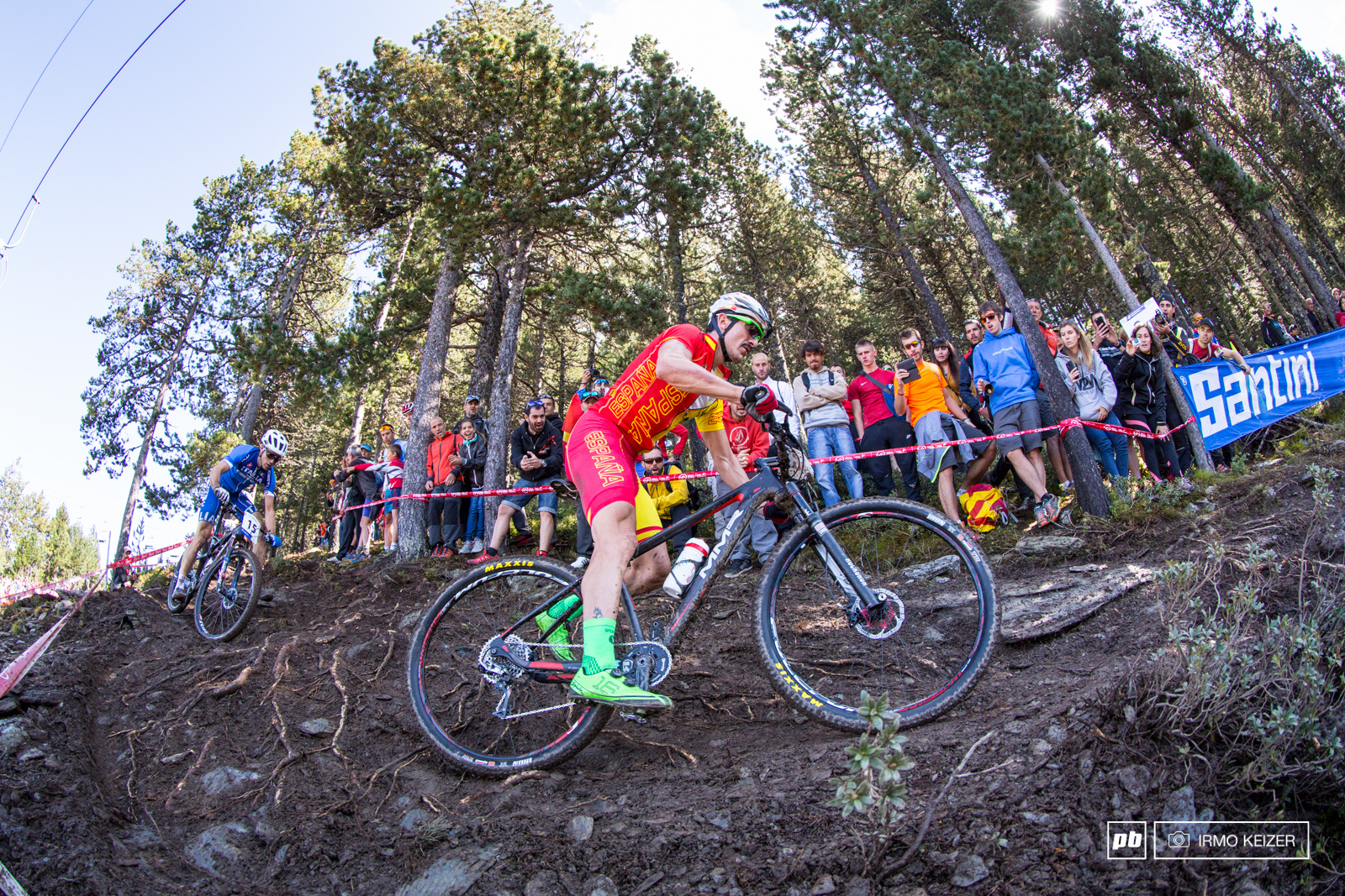 Carlos Coloma rode a strong race to finish 11th. The crowds cheered the rider on.