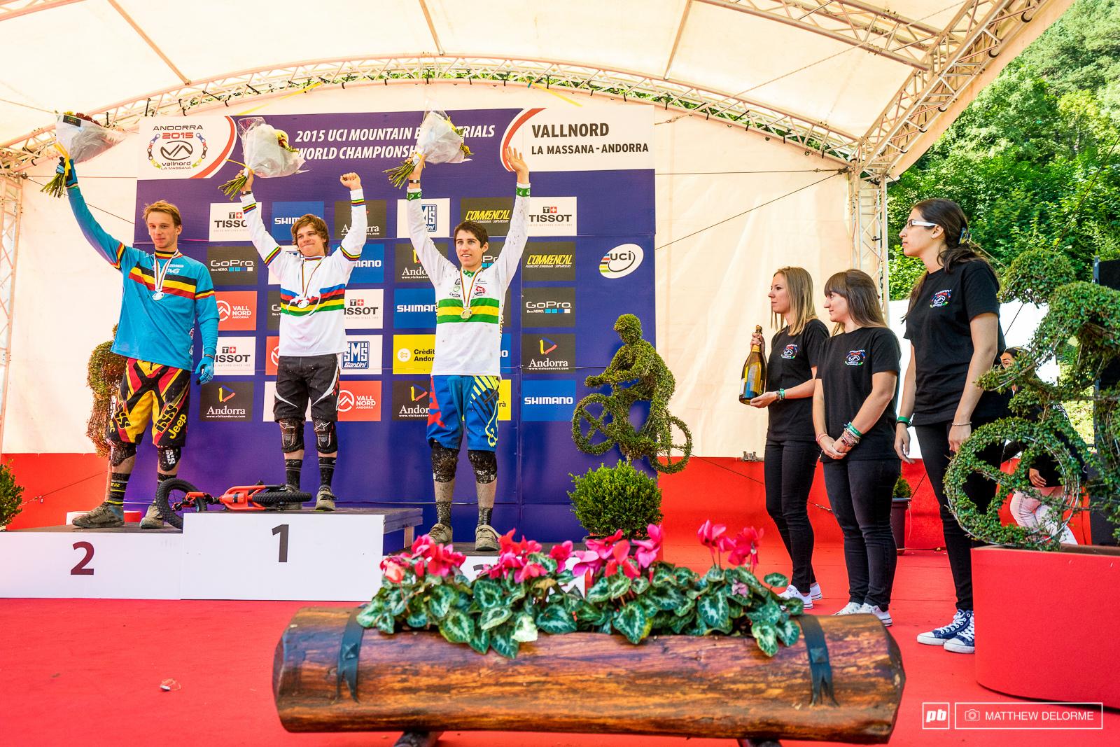 Junior men s podium. Greenland Maes and