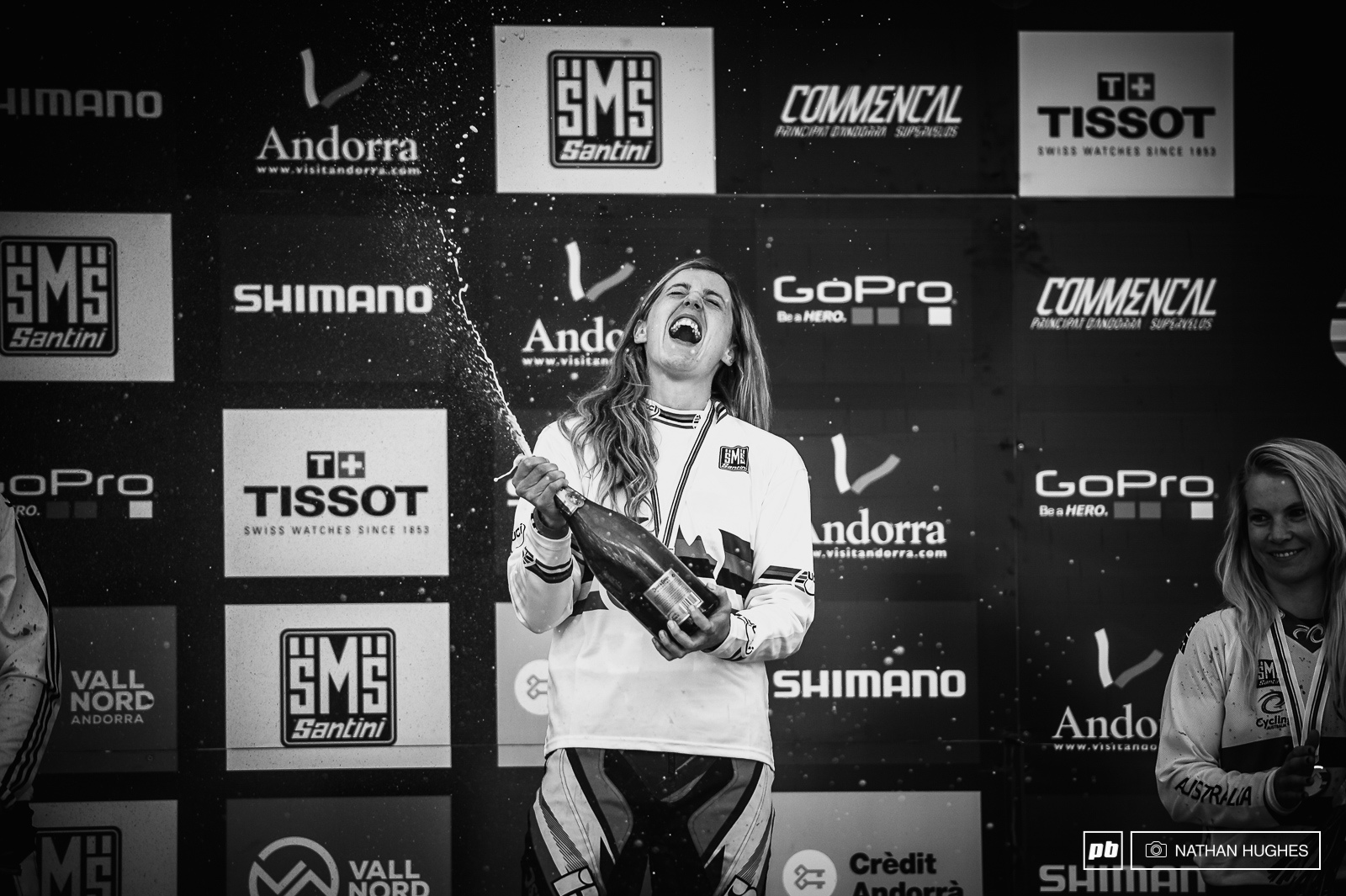 World Champs champagne glory once again for Rachel Atherton after a year of no stripes.