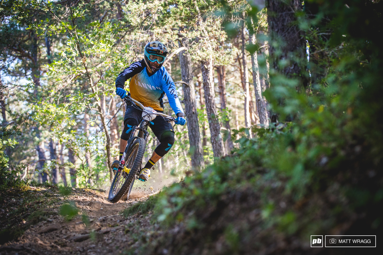 Last years winner Fabien Barel got off to a steady start but made a couple of mistakes on the first stage.