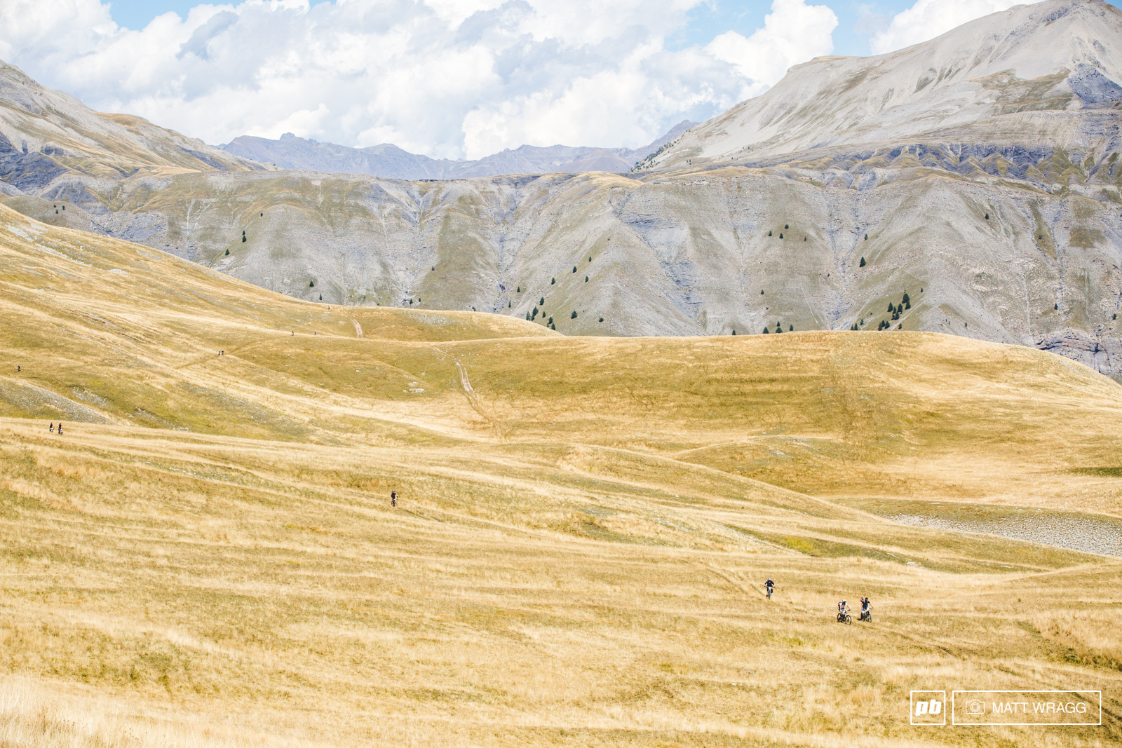 After the steep push there were a couple of kms across these jaw-dropping high alpine meadows to the start.