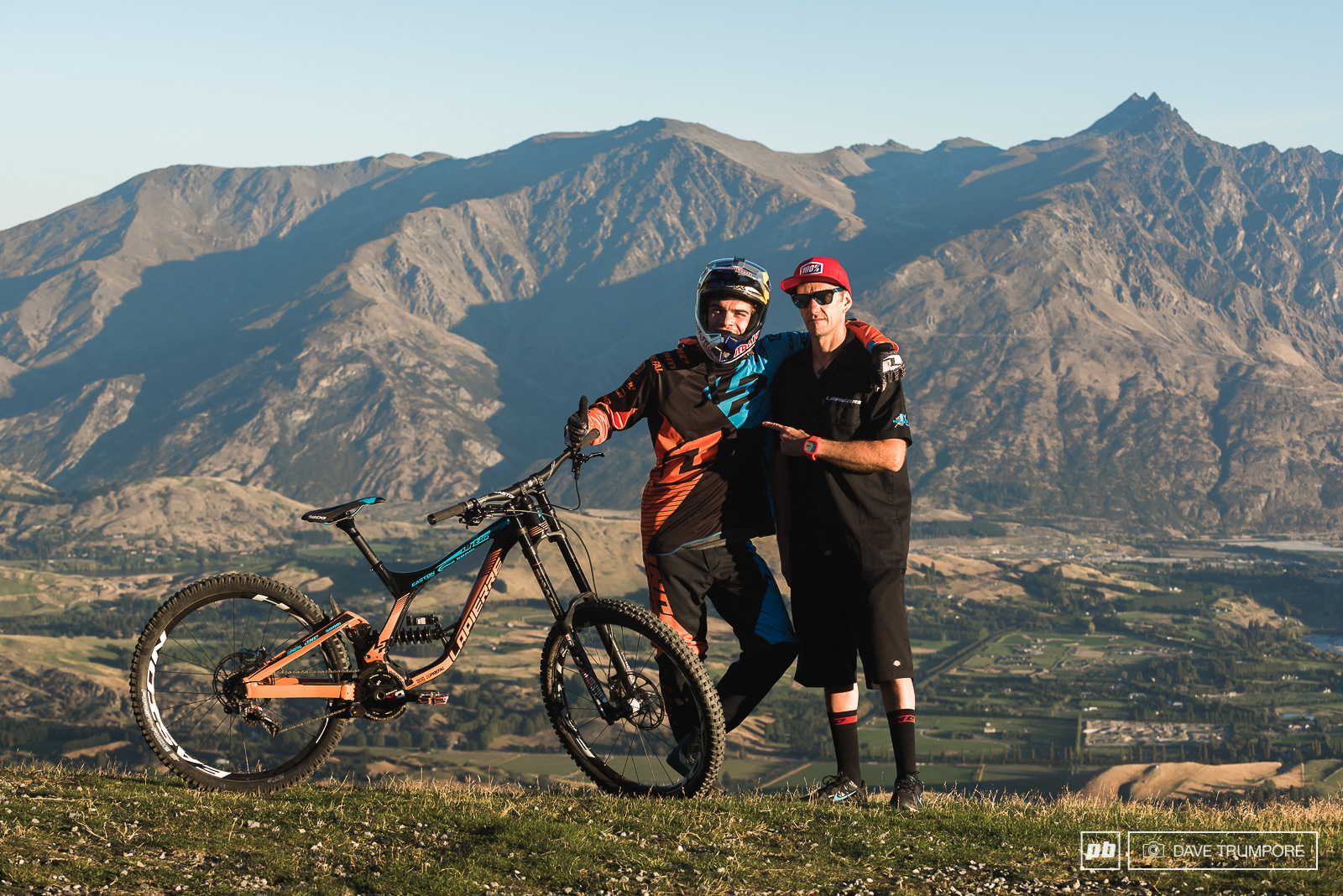 Rider and mechanic during team camp in New Zealand.