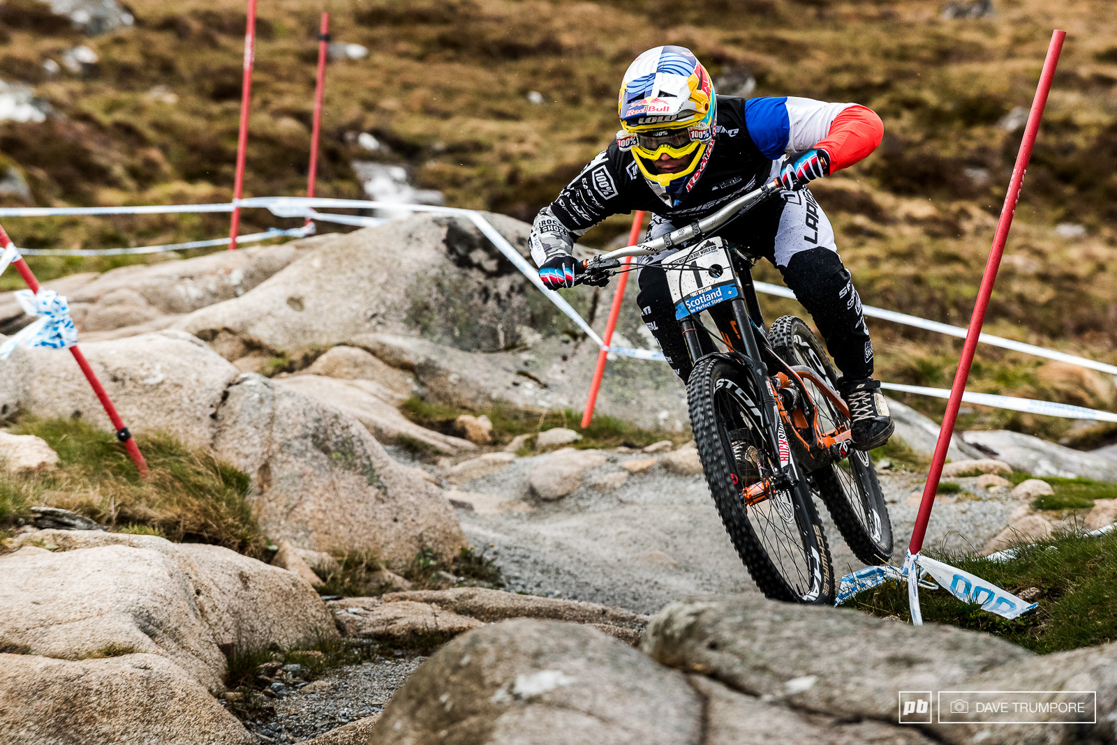 Fort William Scotland sporting the 1 plate of the World Cup series leader.