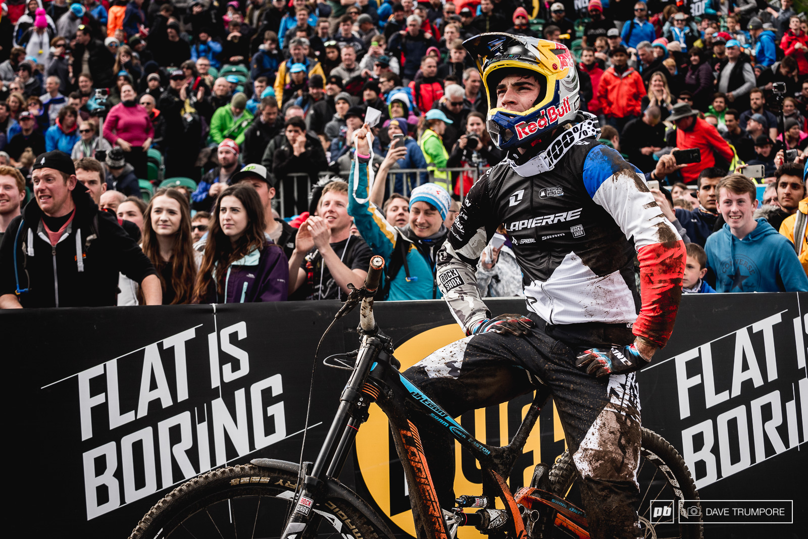 After qualifying in 1st a random rock hidden in a rut ended Loic Bruni s hopes at taking his first World Cup win in Fort William.