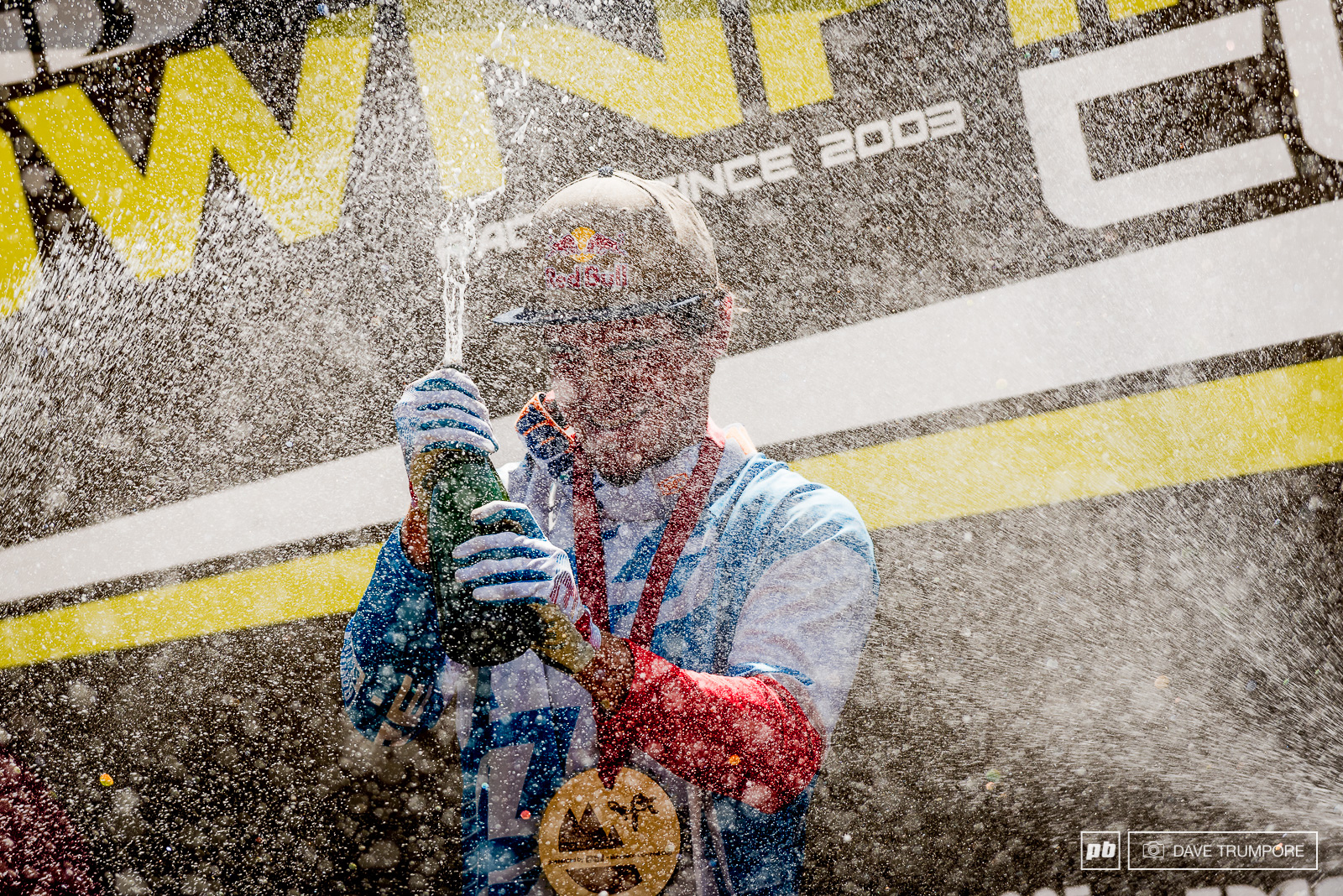 With scorching temps all week what better way to cool down than with an ice cold shower of champagne in Crankworx L2A.