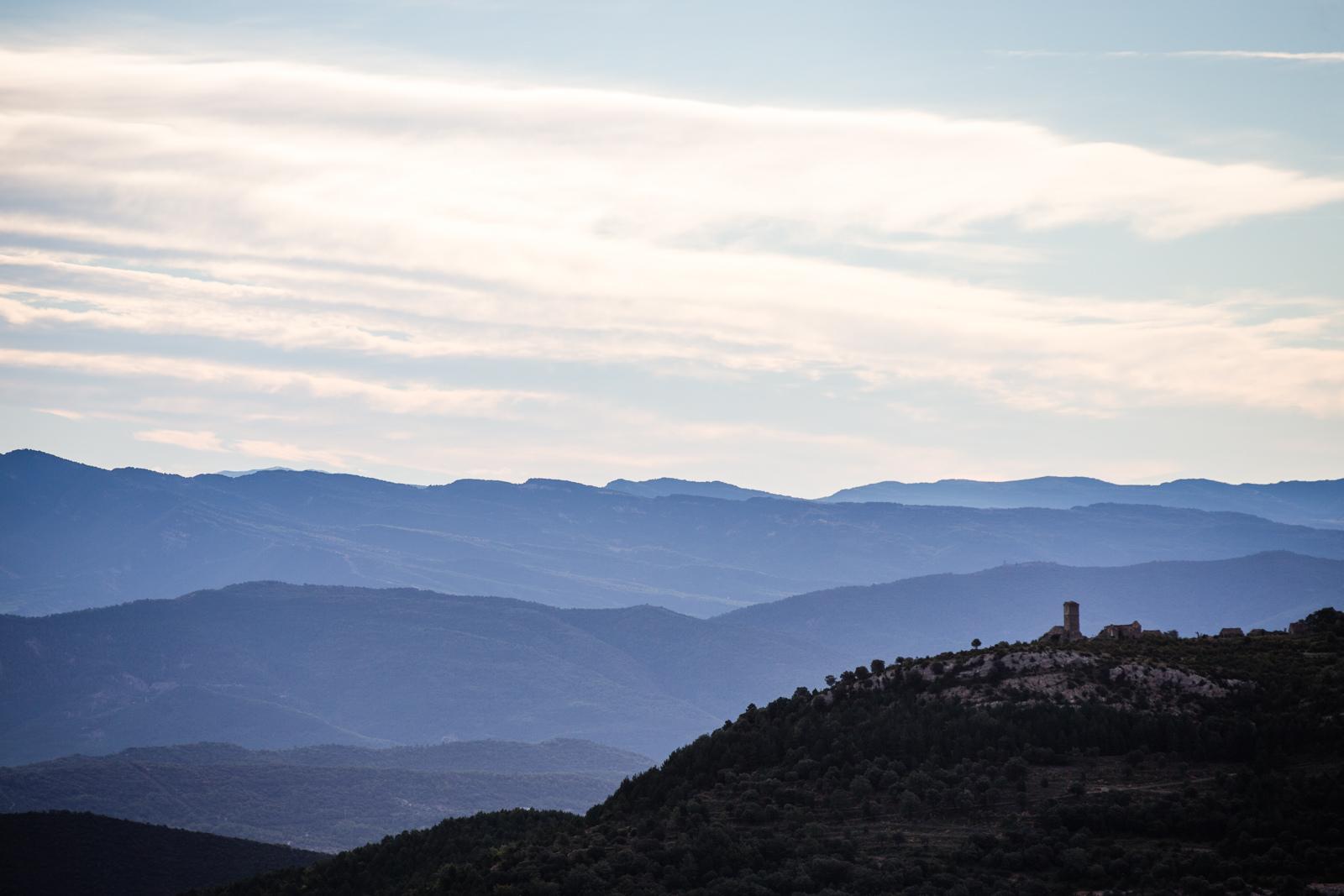 The view this morning. EWS round 7 Ainsa Spain. Photo by Matt Wragg.