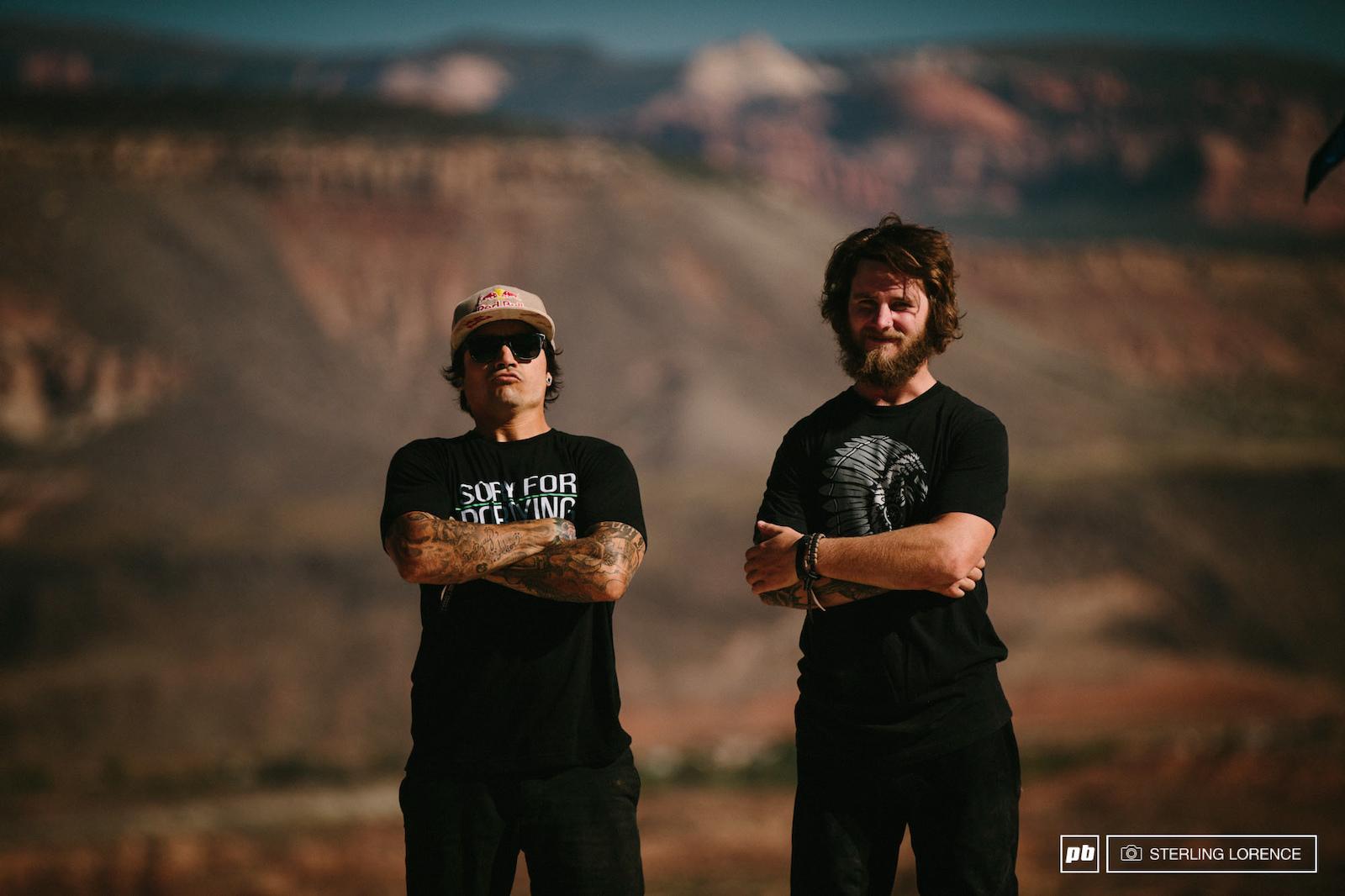 Andreu and Aggy at RedBull Rampage 2015 Virgin Utah USA