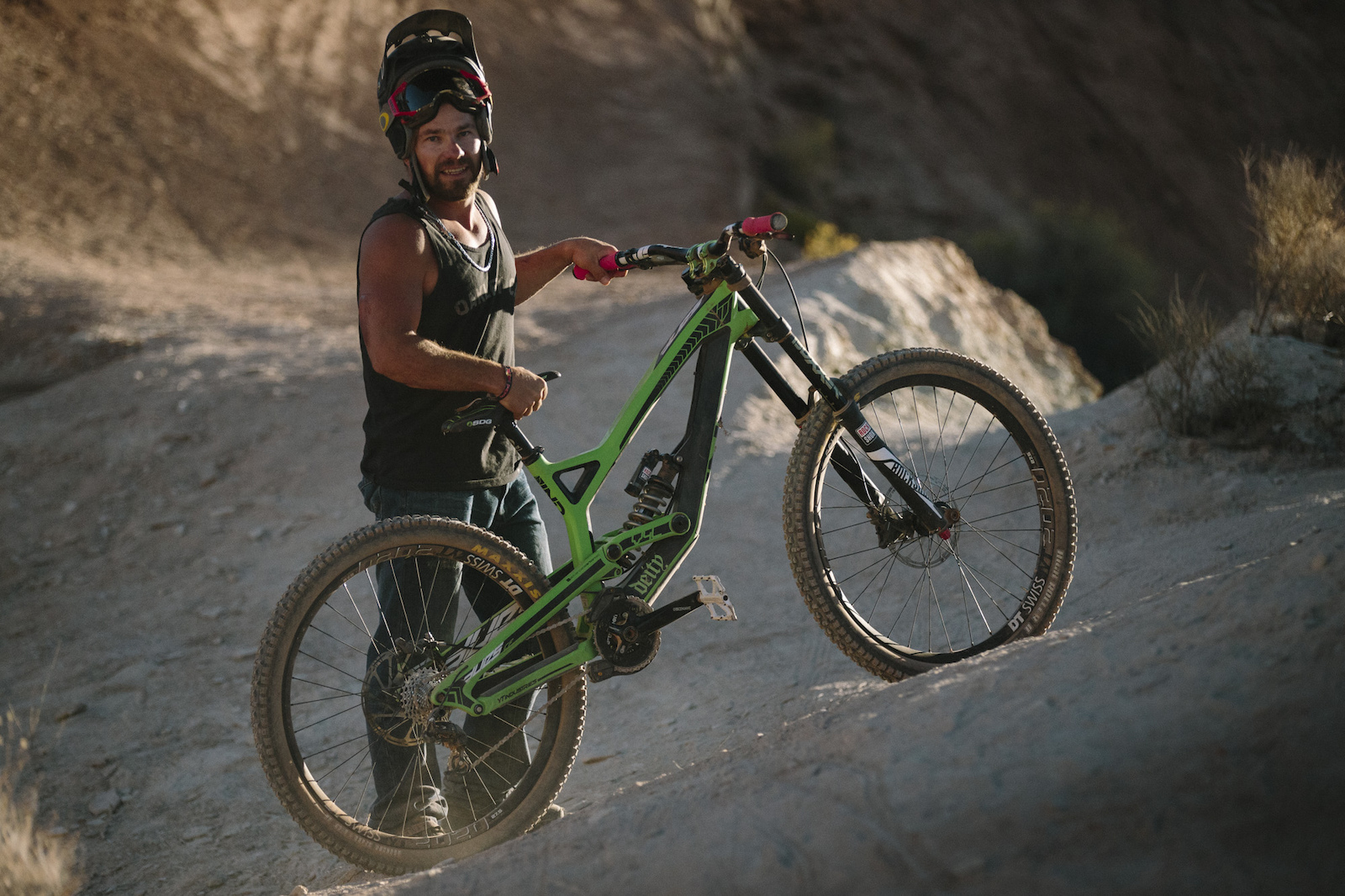 Robbie Bourden at RedBull Rampage 2015 Virgin Utah USA