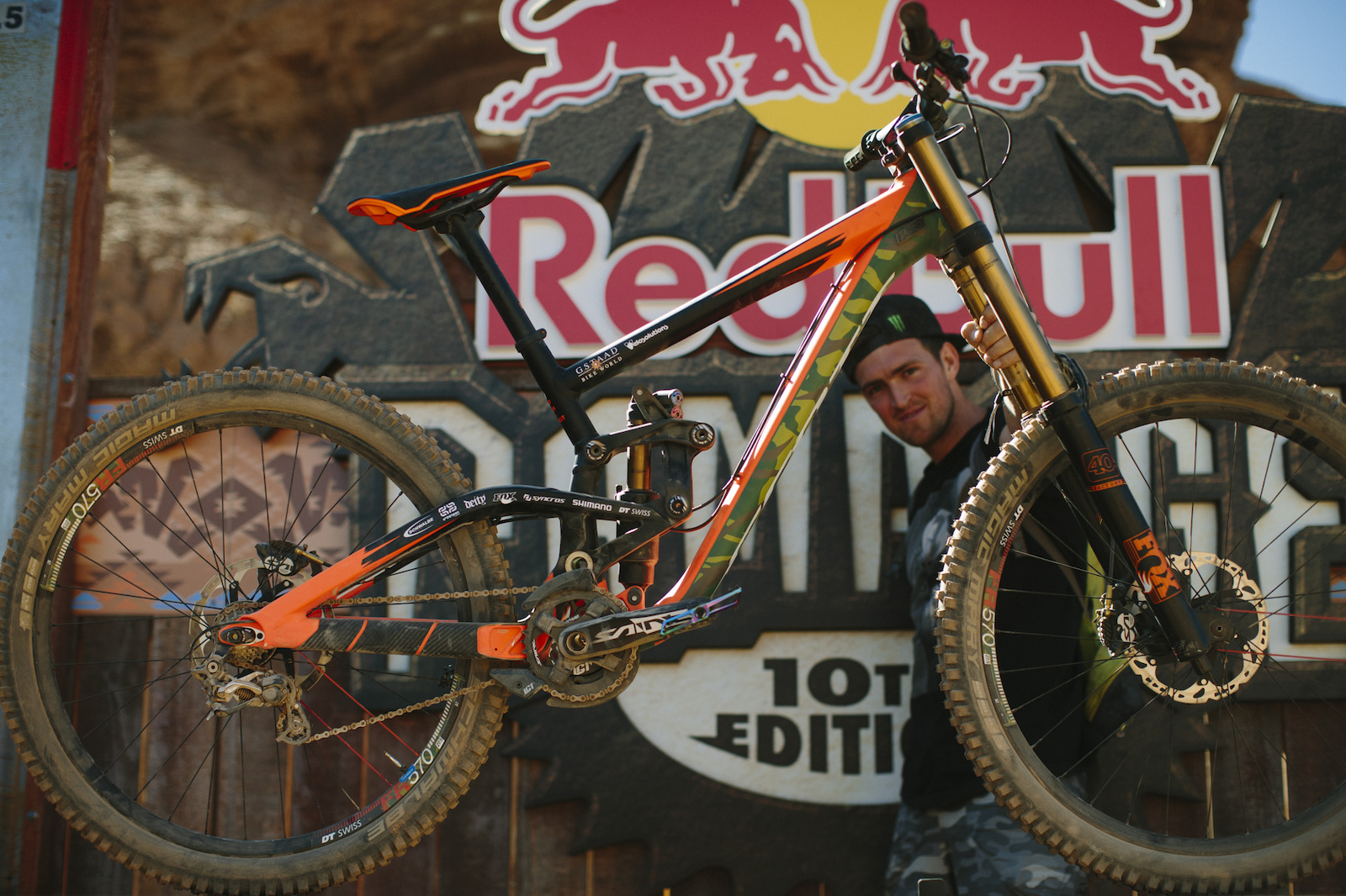 Brendan Fairclough at RedBull Rampage 2015 Virgin Utah USA