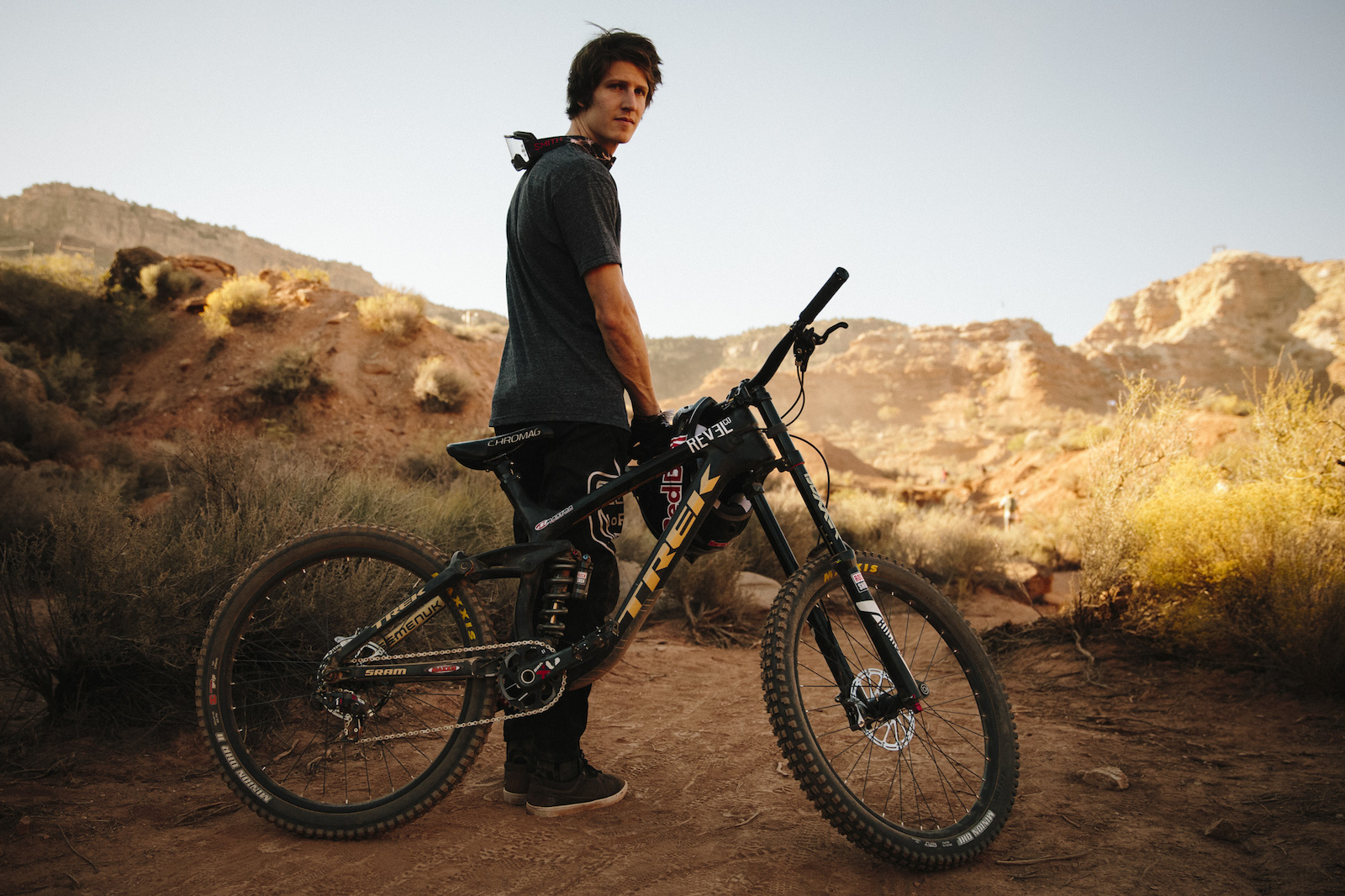 Brandon Semenuk at RedBull Rampage 2015 Virgin Utah USA