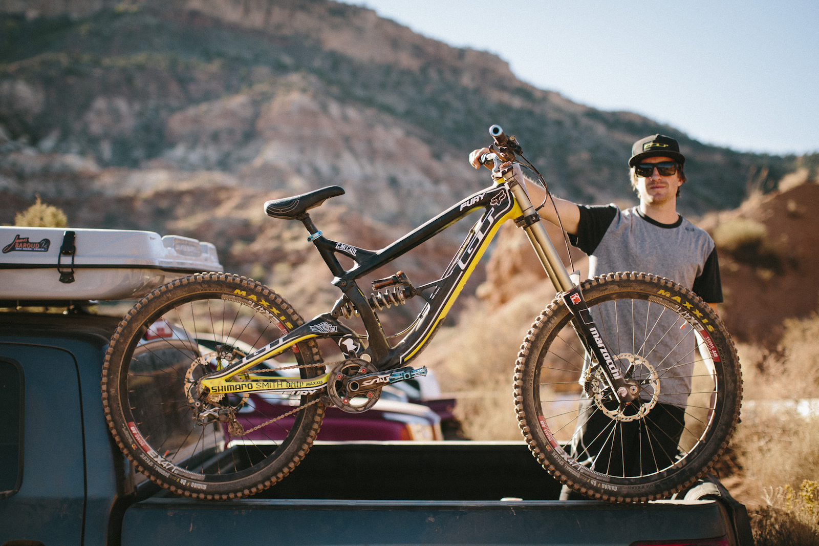 Tyler McCaul at RedBull Rampage 2015 Virgin Utah USA