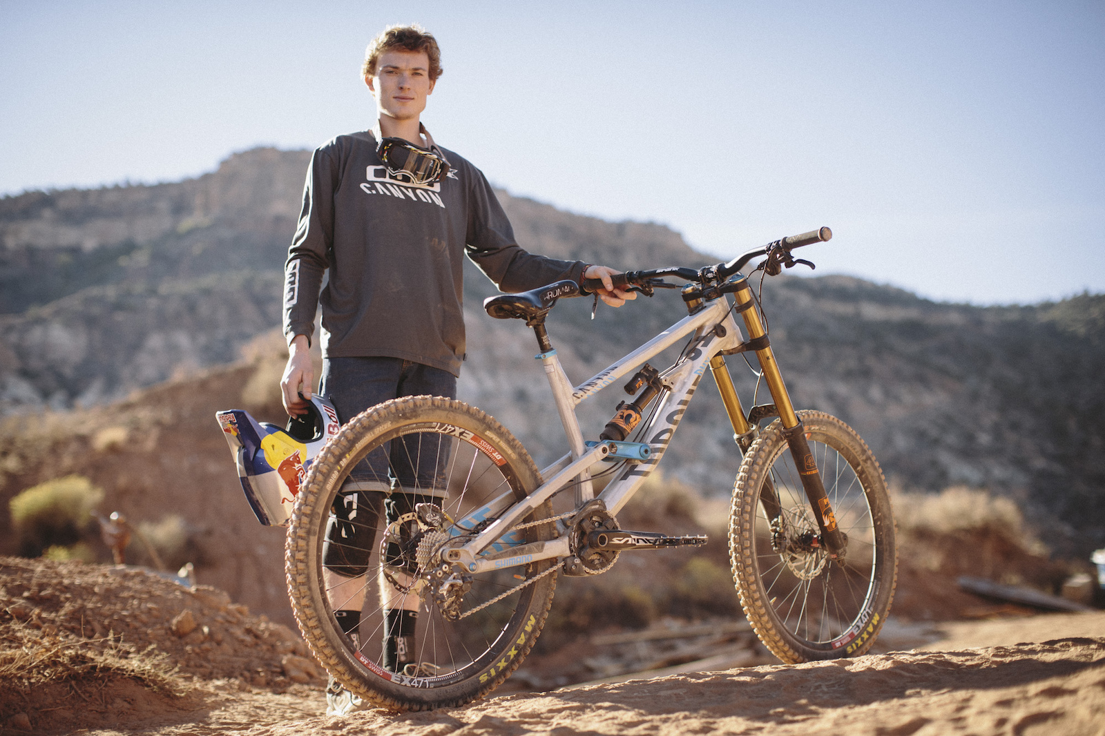 Thomas Genon at RedBull Rampage 2015 Virgin Utah USA