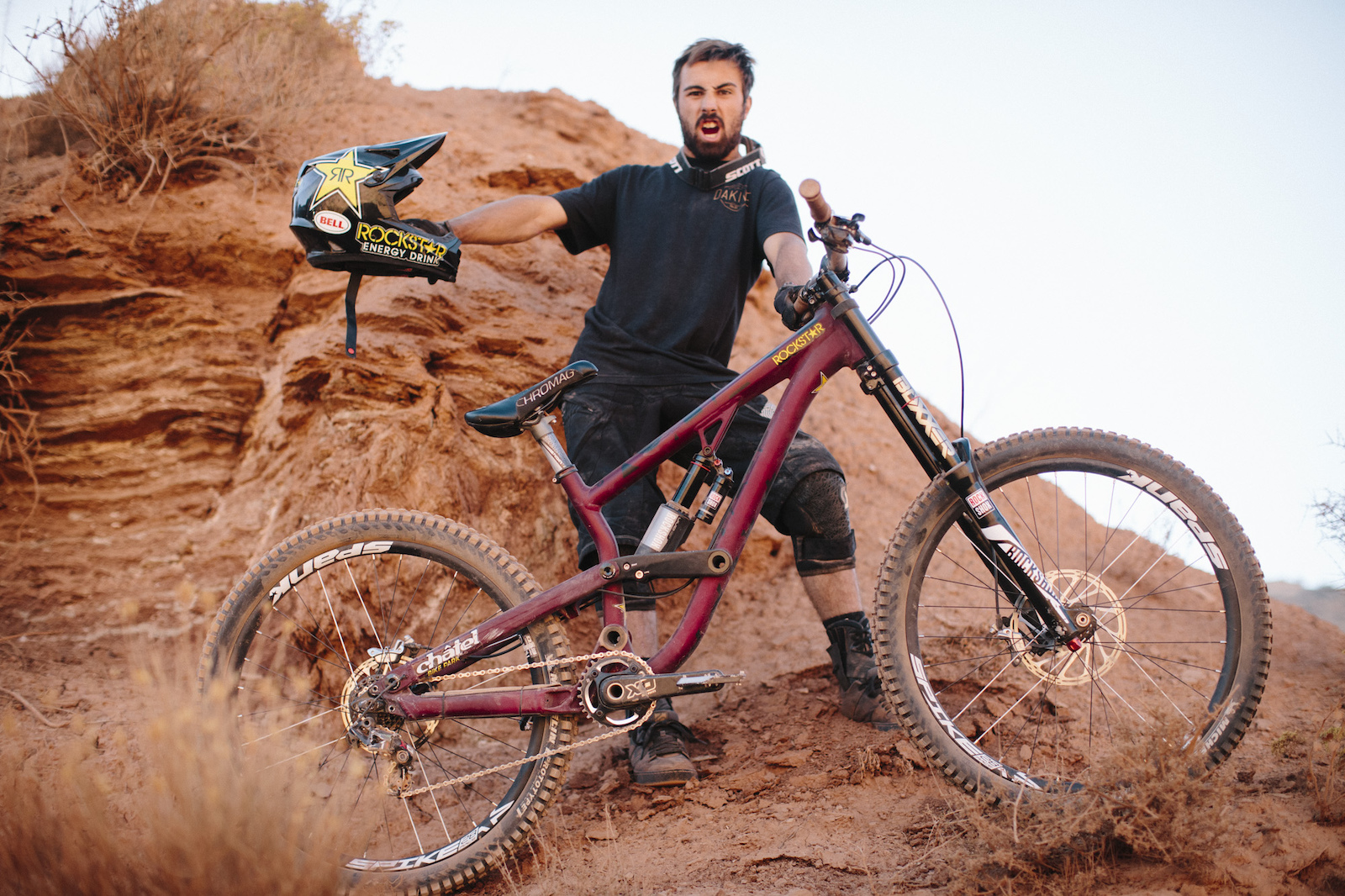 Louis Reboul at RedBull Rampage 2015 Virgin Utah USA