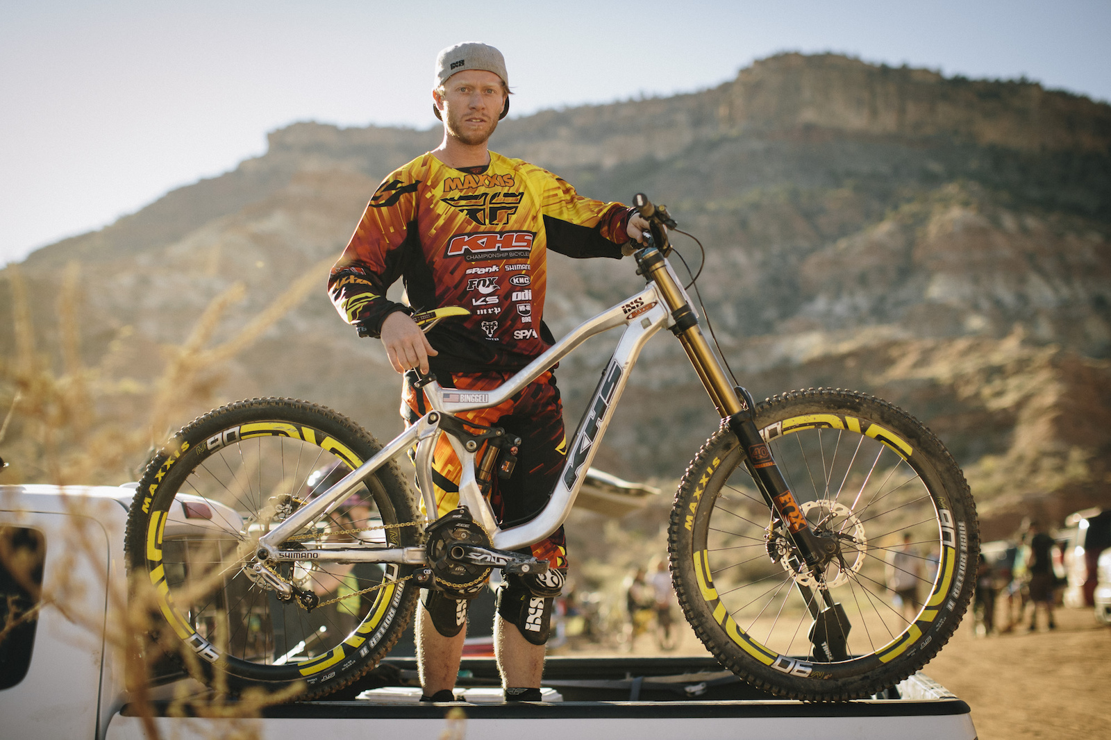Logan Binggeli at RedBull Rampage 2015 Virgin Utah USA