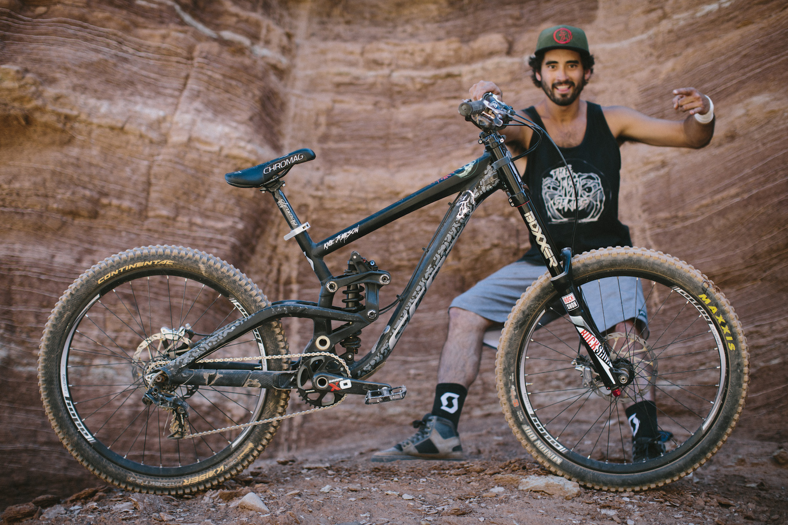 Kyle Jameson at RedBull Rampage 2015 Virgin Utah USA