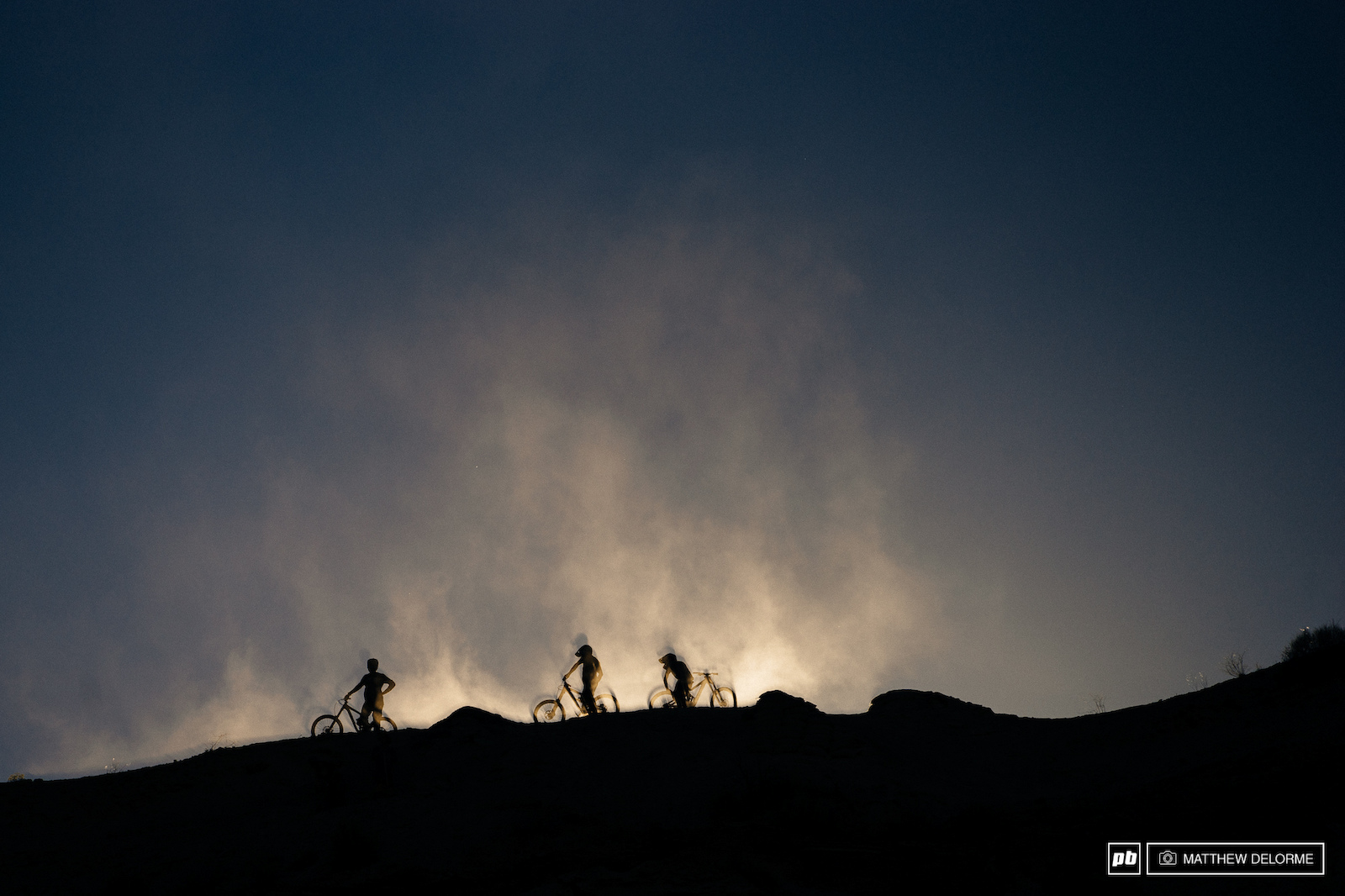 The light was epileptic up on the ridge once the runs started going.