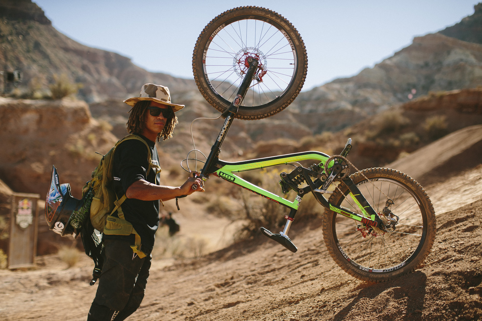 Nic Pescetto at RedBull Rampage 2015 Virgin Utah USA