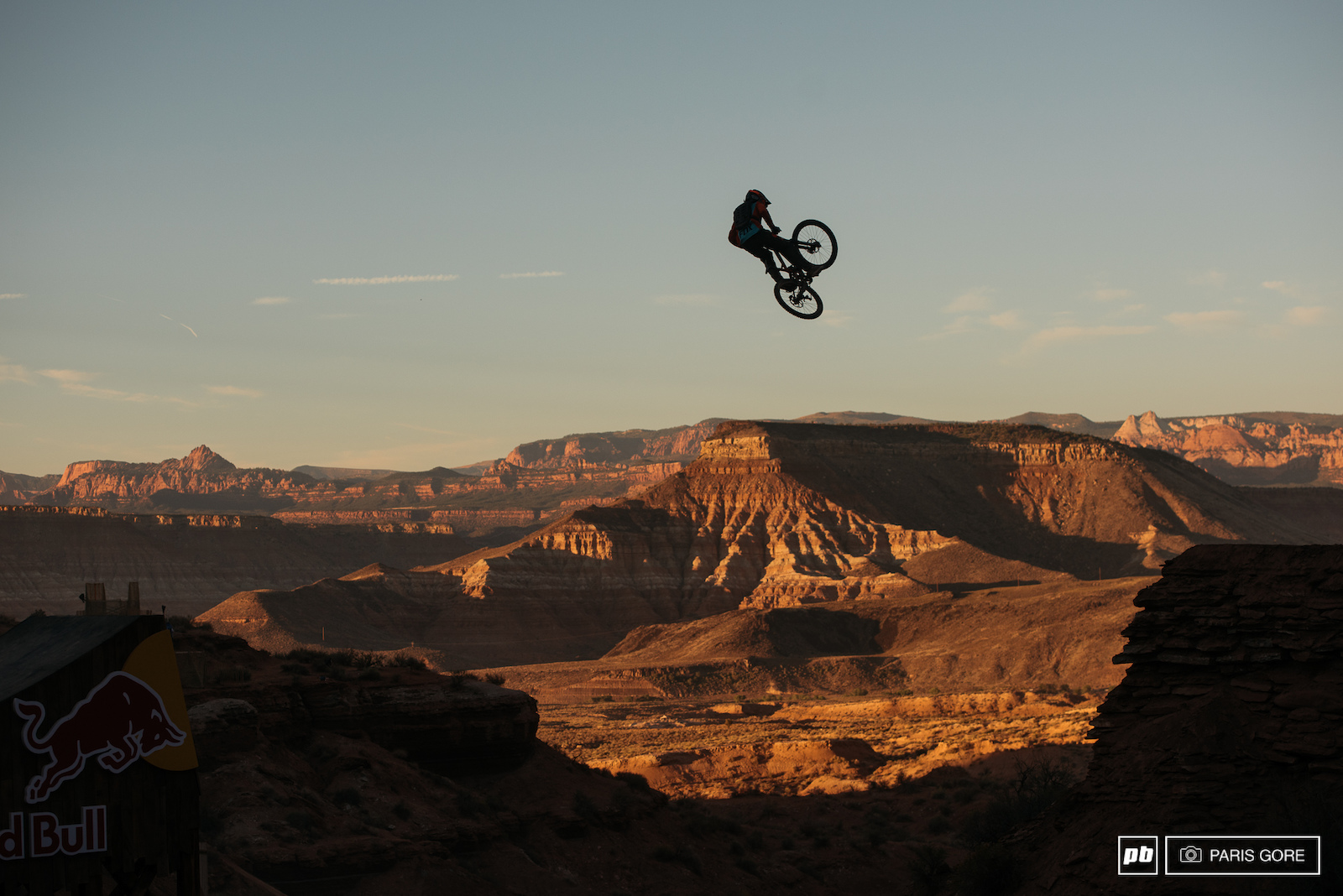 Sam Reynolds one of the first to style out the canyon gap.