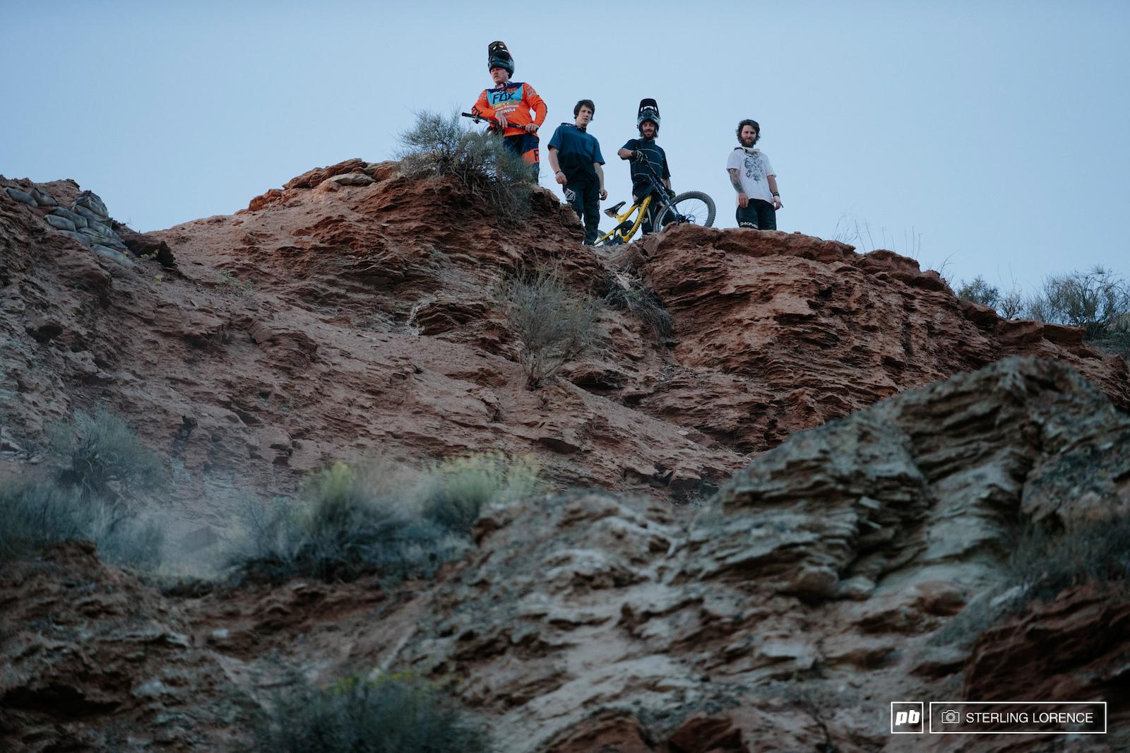 Lyle Brandon Sorge and Aggy at 2015 RedBull Rampage Virgin Utah USA