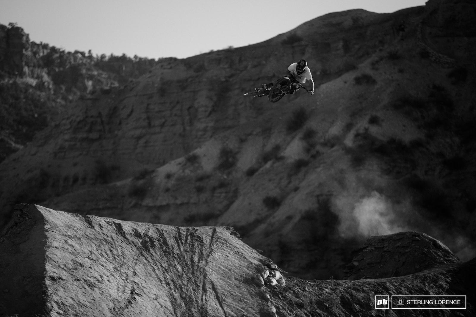 Graham Agassiz at 2015 RedBull Rampage Virgin Utah USA