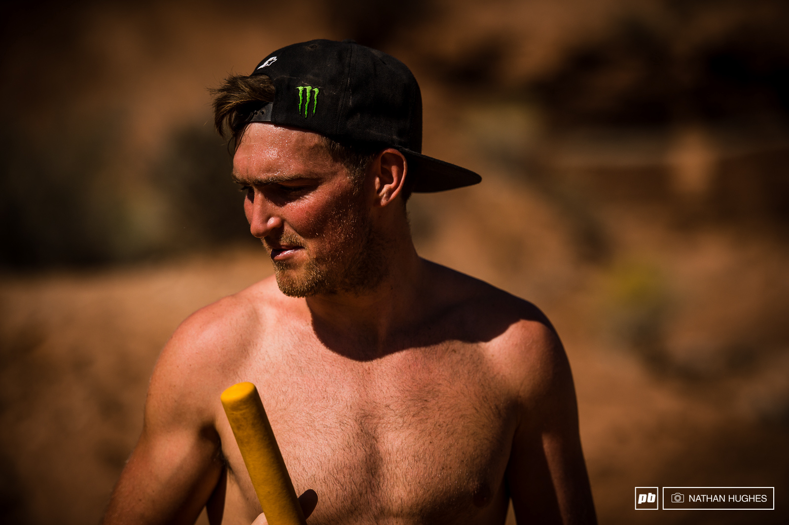 Brendan doesn t have to worry about qualy but still got the bike out in the afternoon to start tackling the countless canyon gaps and his all new hipped step-down.