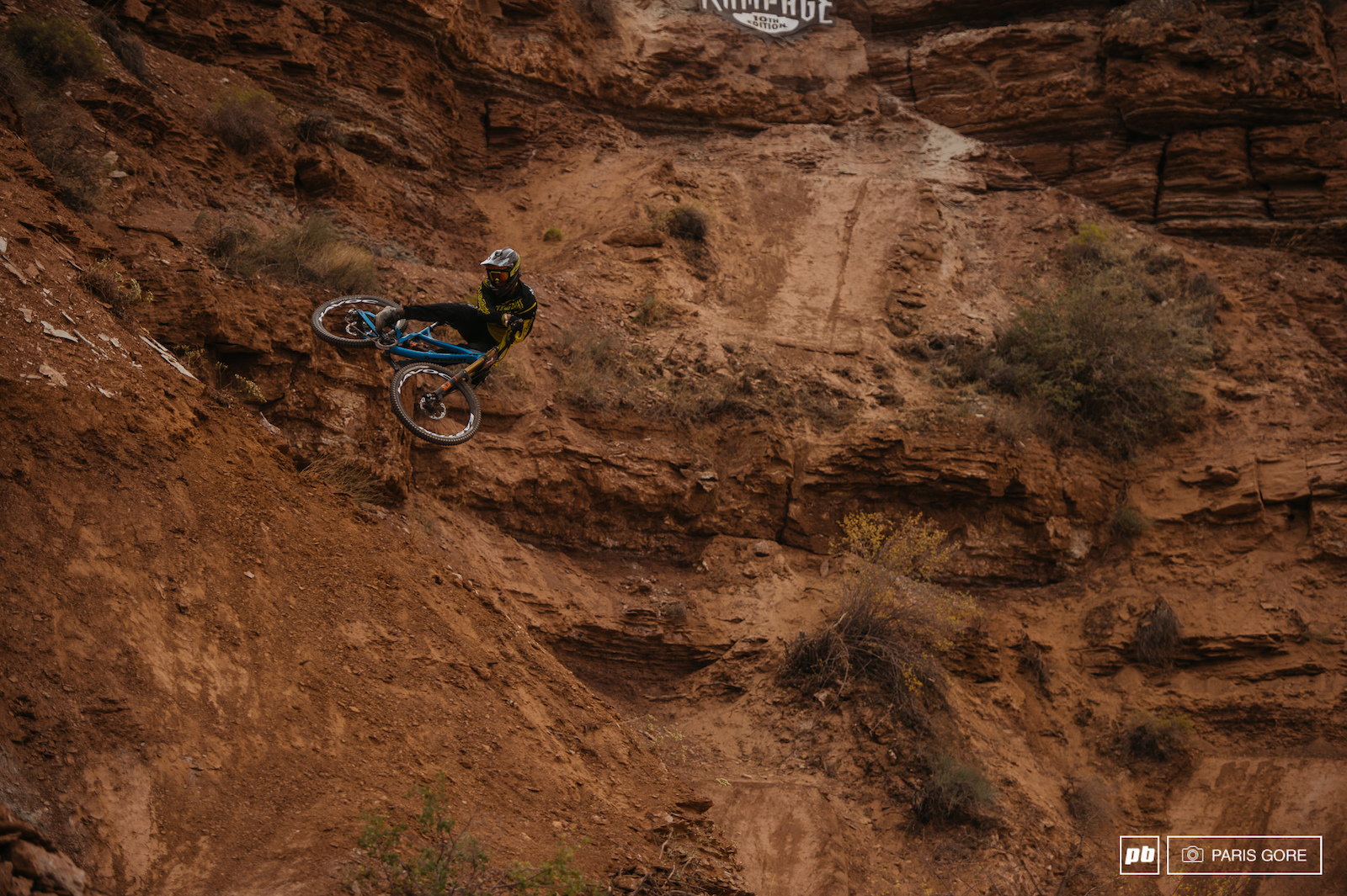 Bas nasty flowing through first time at Rampage and qualified 11th 11 riders to make the cusp.