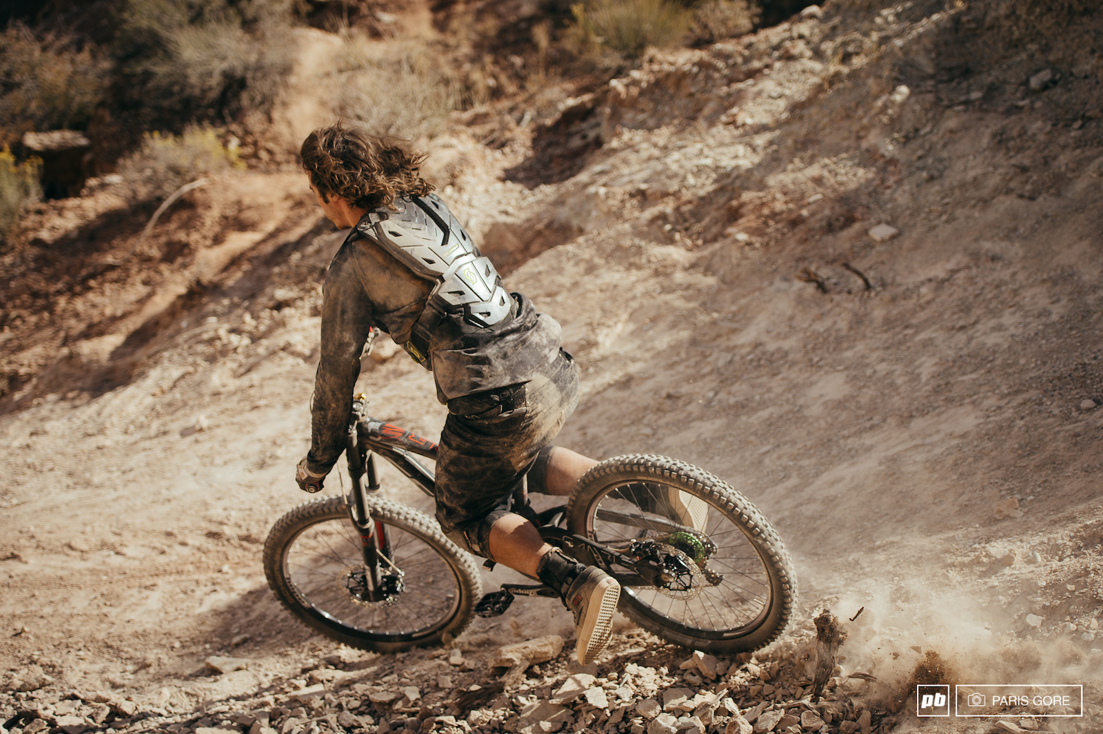 Niko Vink would hardly even take medical help after summersaulting down rocks for 50 feet. Riding away with a swollen and most likely broken ankle.