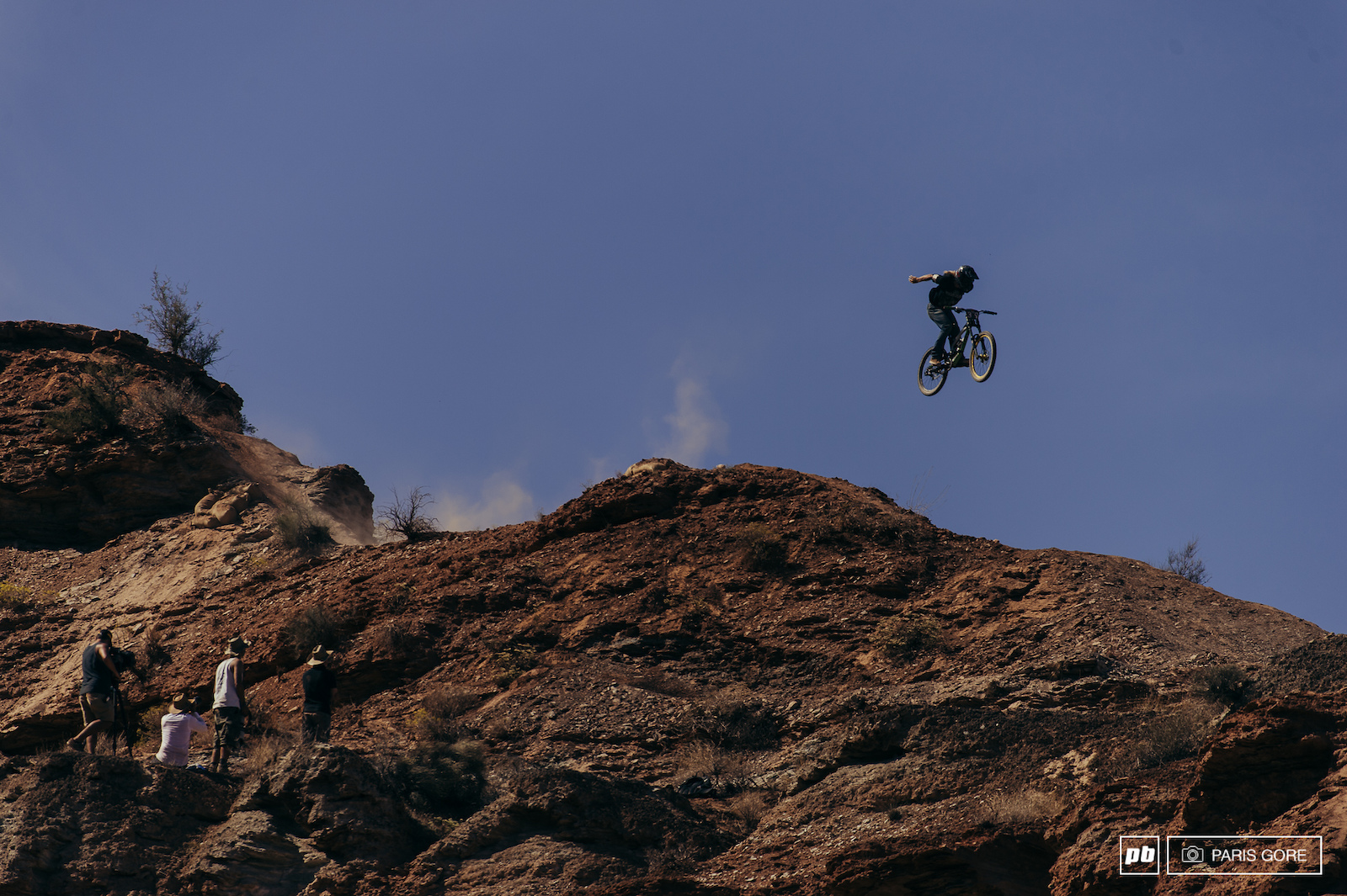Will White suicide on the ridge riding a YT.