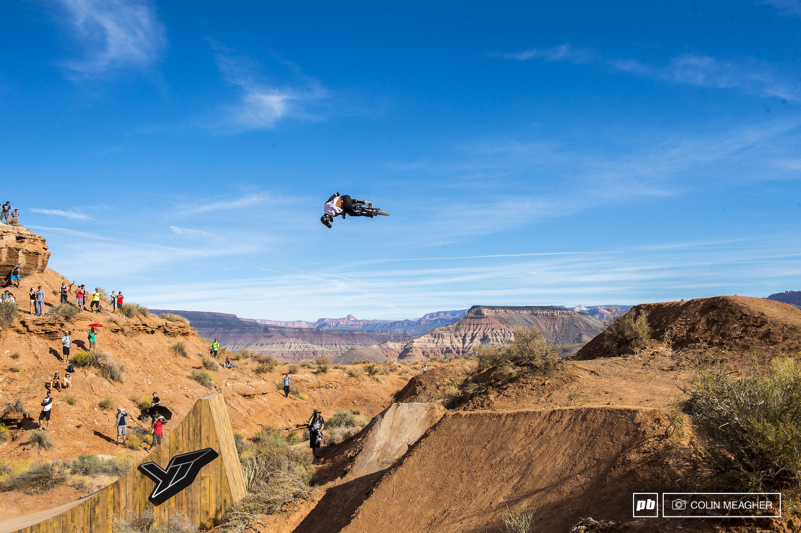 Kyle Jameson fllat spinning the YT booter.