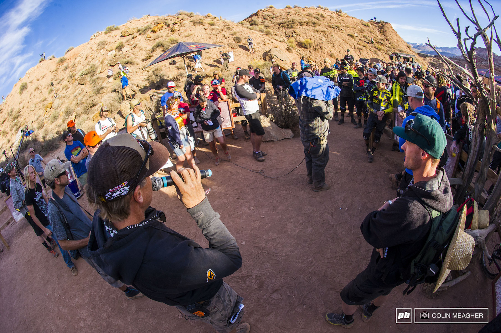 The rider meeting. Otherwise known as the laying down of the law on getting the beast that is Rampage semi under control.