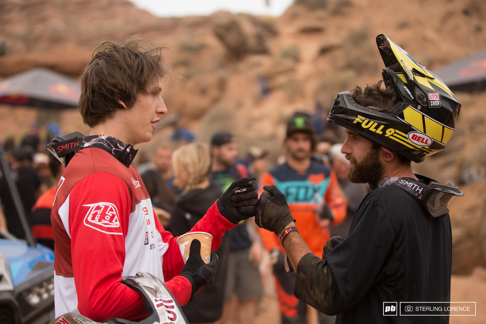 Semenuk and Rdog at RedBull Rampage 2015 Virgin Utah USA
