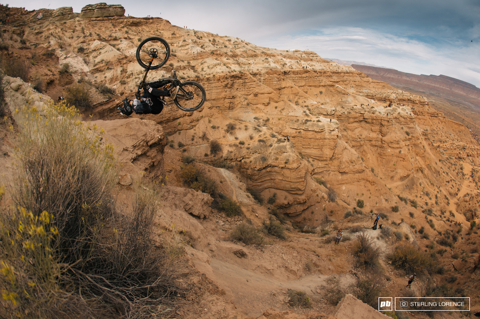 Brett Rheeder at RedBull Rampage 2015 Virgin Utah USA