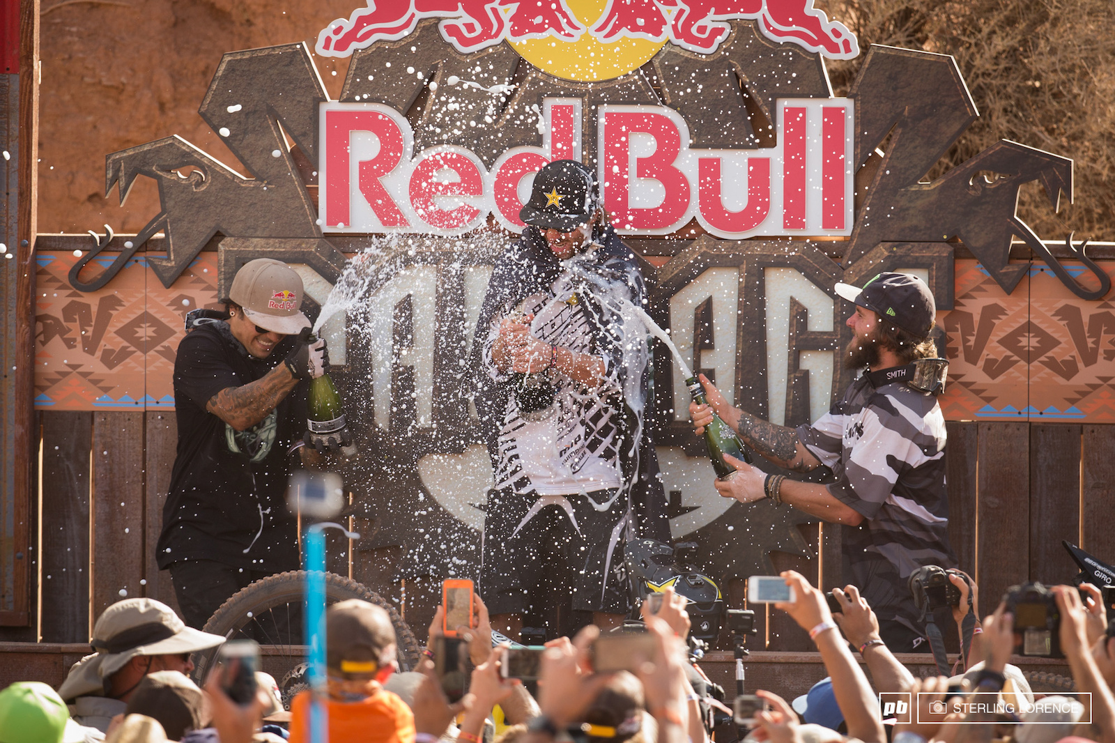 Andreu Sorge and Aggy at RedBull Rampage 2015 Virgin Utah USA