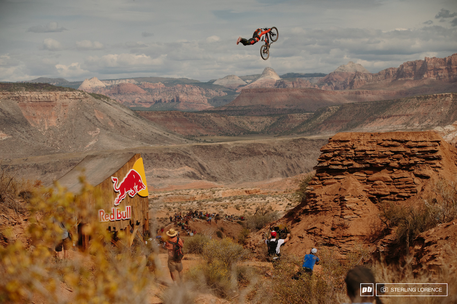 Sam Reynolds at RedBull Rampage 2015 Virgin Utah USA