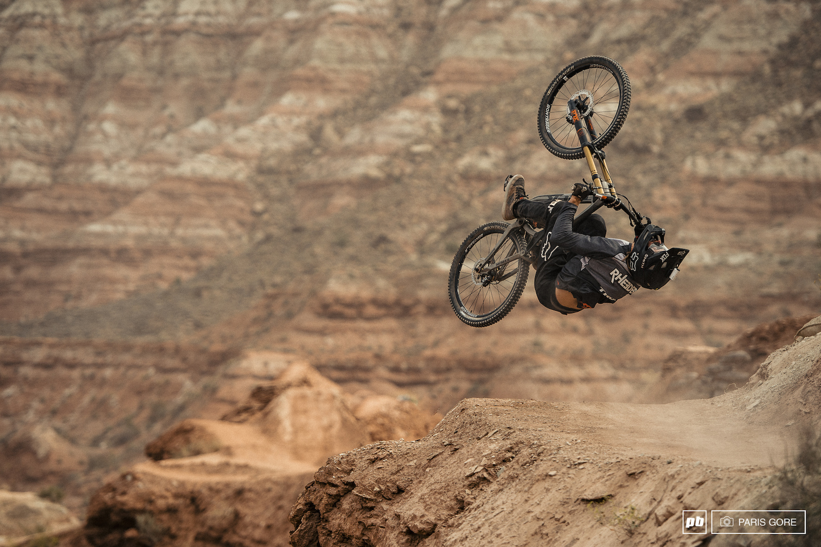Brett Rheeder s slopetyle influence really brought a lot of different style to Rampage with a trick fueled line.