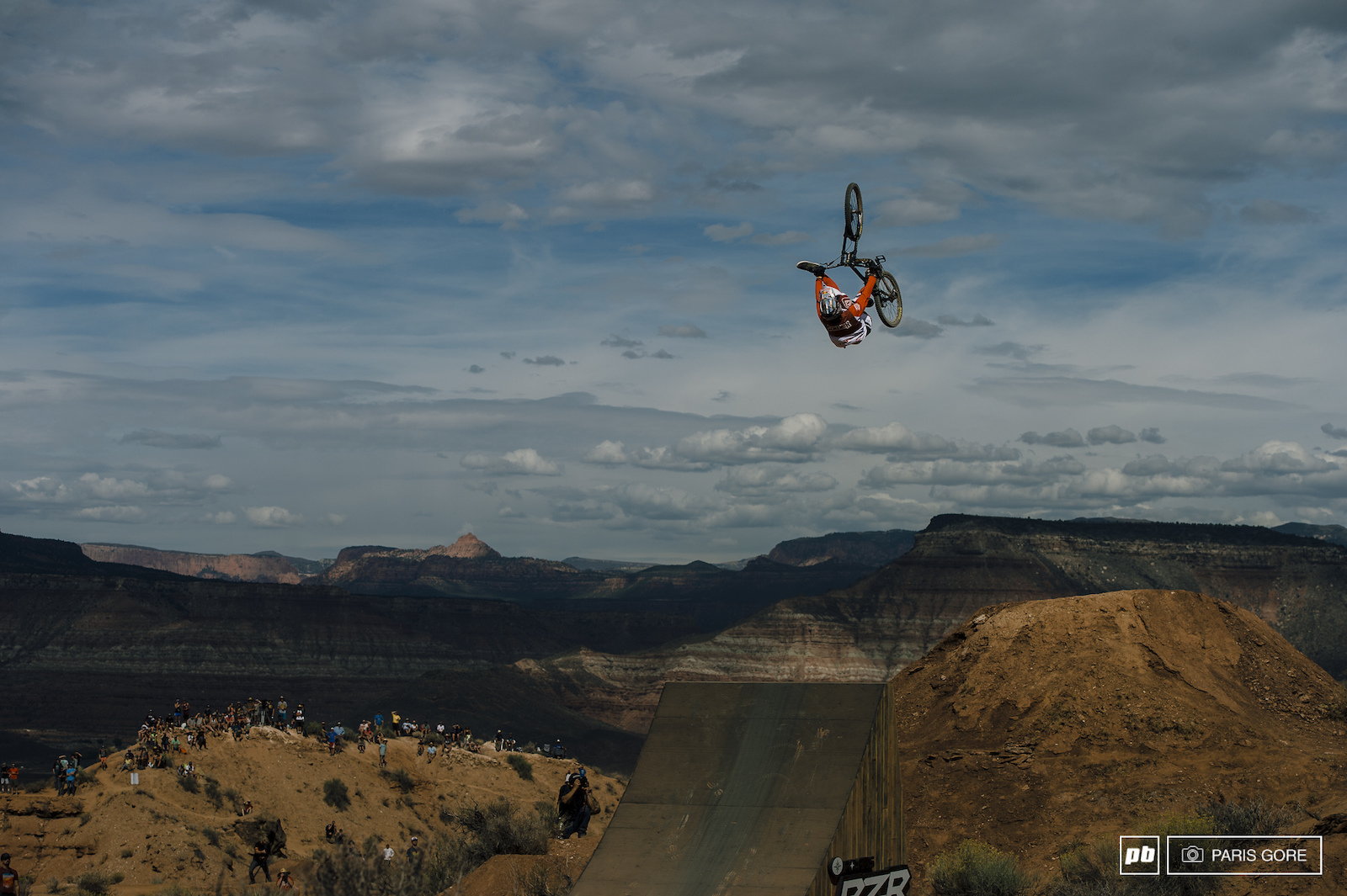 Brandon Semenuk flip can over the RZR booter. His entire run was littered with tricks top to bottom and had an incredible run.