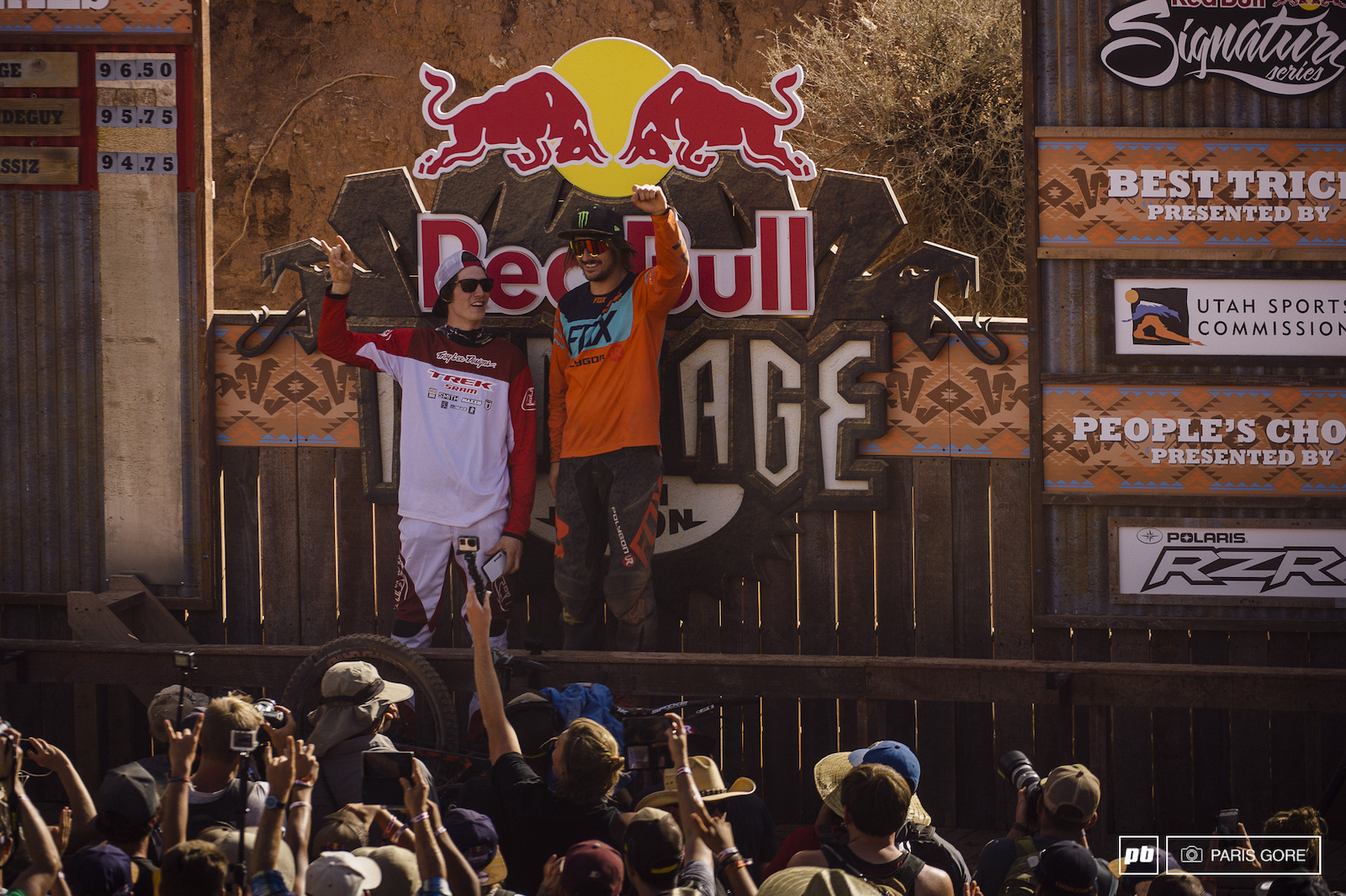 Sam Renyolds won a pile of cash for best trick and Brandon Semenuk scored himself a Polaris RZR for the peoples choice award.