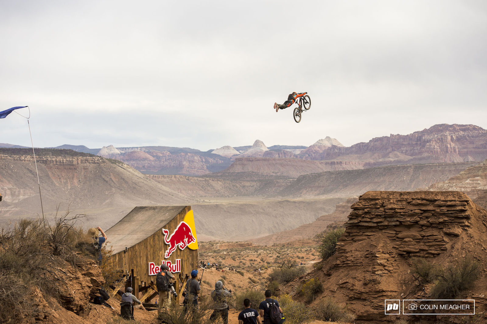 Reynolds going stratospheric across the canyon gap.