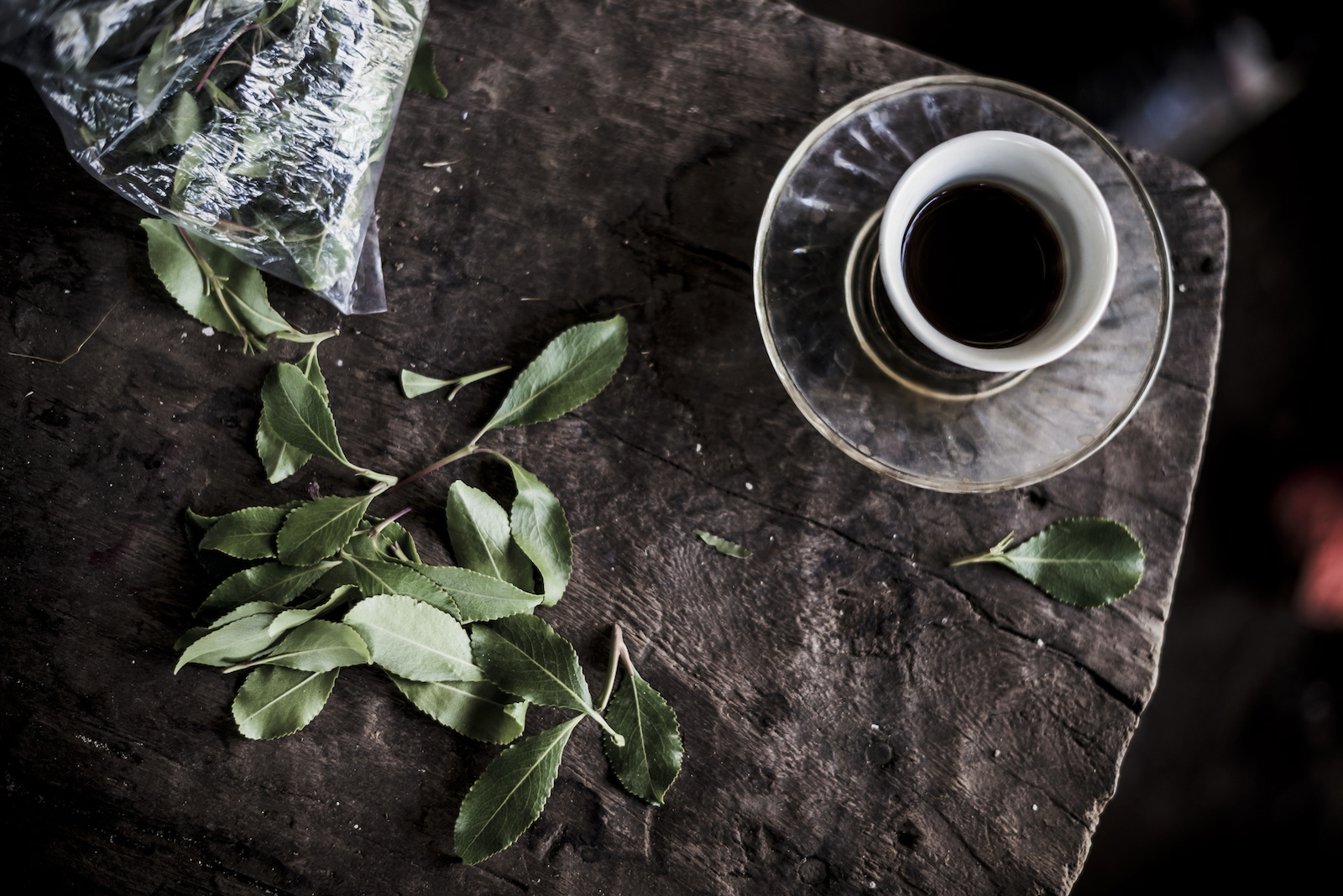 Khat leaves and coffee- legal stimulants