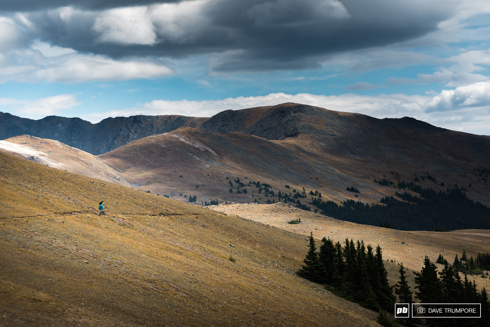 Shawn Neer all alone on the high ridge that divides the east and west of the United States.