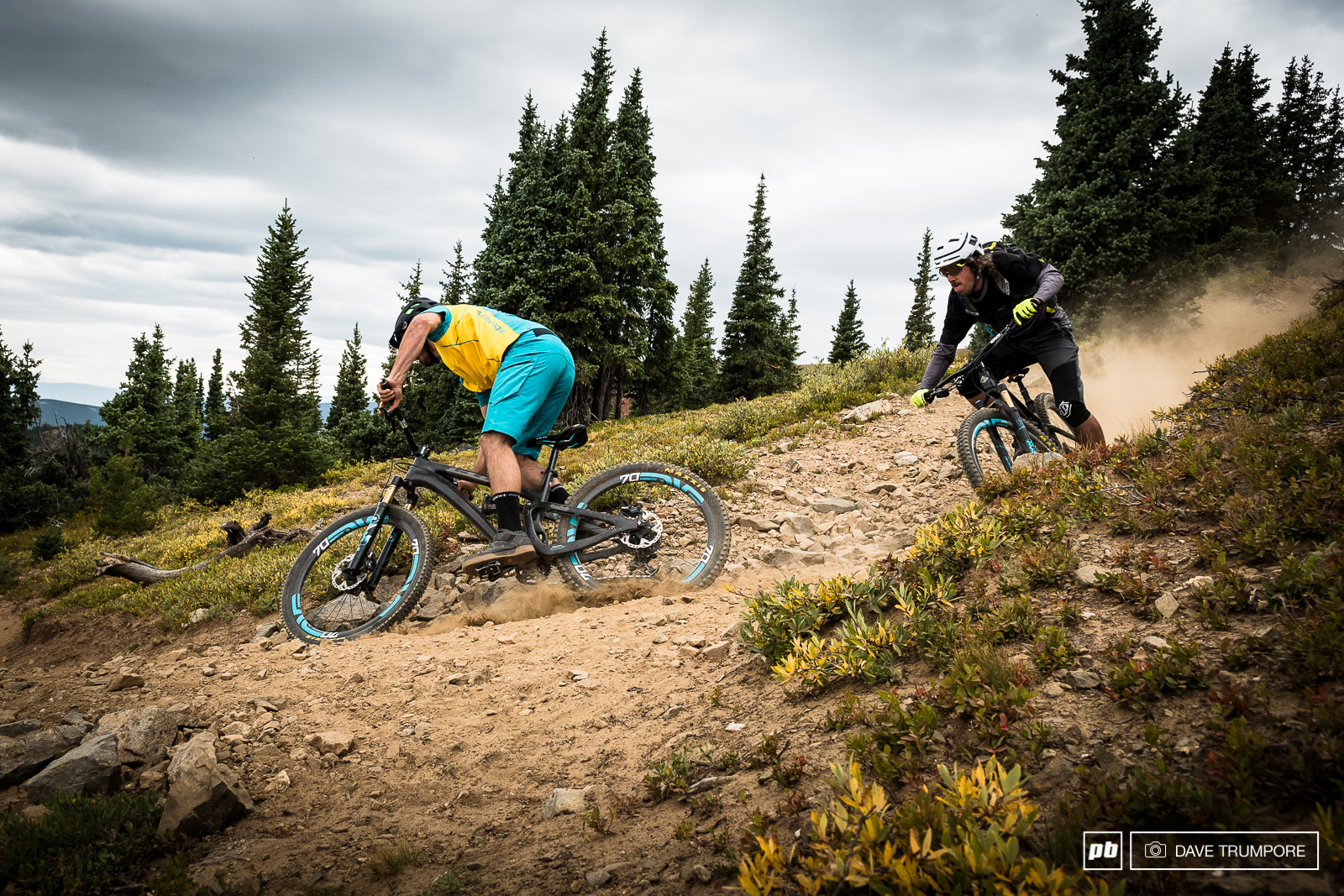 Shawn Neer and Joey Schusler drop west off the Continental Divide on a line that if they were water would eventually lead to the Pacific Ocean.