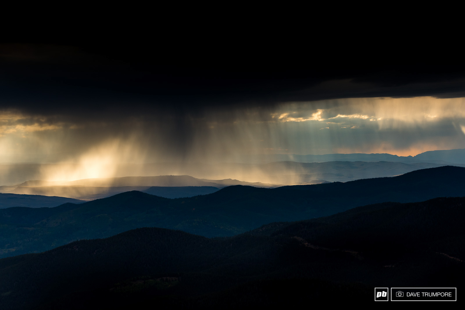 At 12 000 feet you can feel and smell thunderstorms as they roll in even when they are still far off in the distance. While it may be spectacular to look at it is not a time to linger.